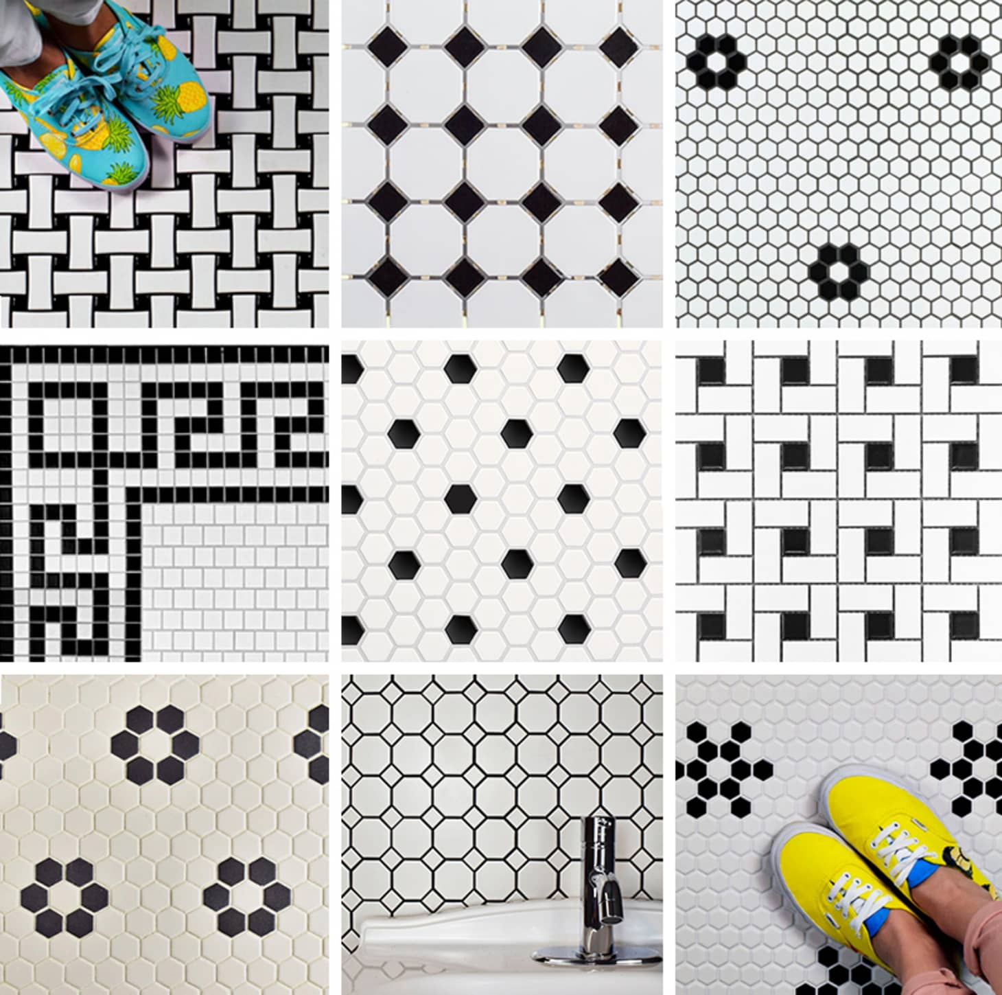 Our Favorite Vintage Mosaic Floor Tiles for Bathrooms ...