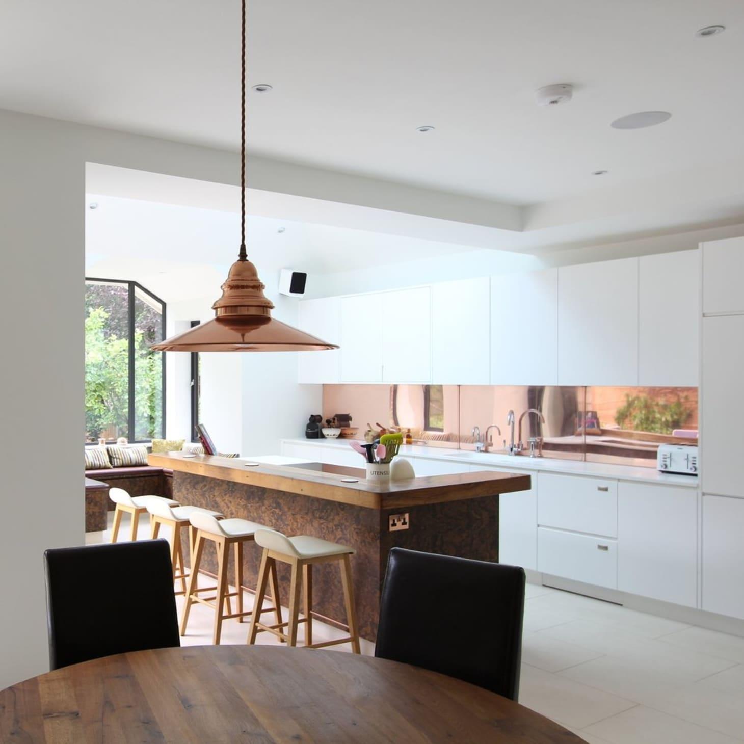 Kitchen Backsplash Ideas: Go Metallic!   Apartment Therapy