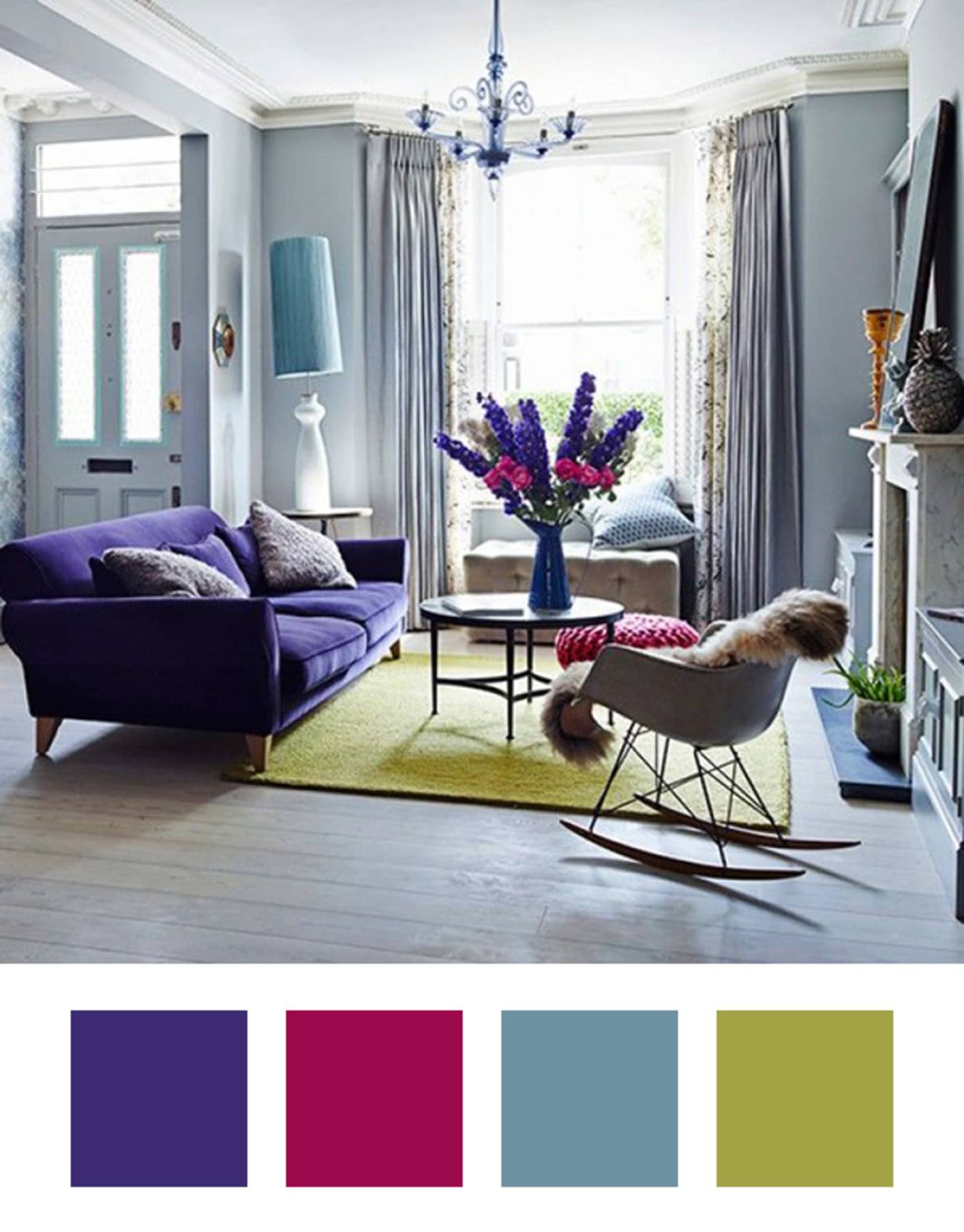 Violet Room Design: Decorating Ideas: 6 Colors To Pair With Purple At Home