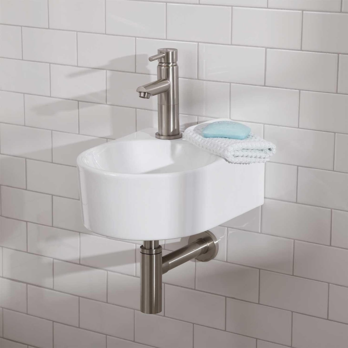 Small bathroom vanities and sinks for tiny spaces - Small powder room sinks ...