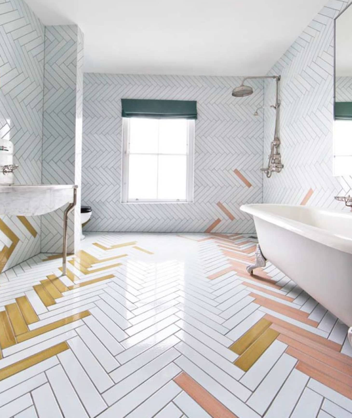 Bathroom Floor Tile Patterns Using Cheap In-Stock Options