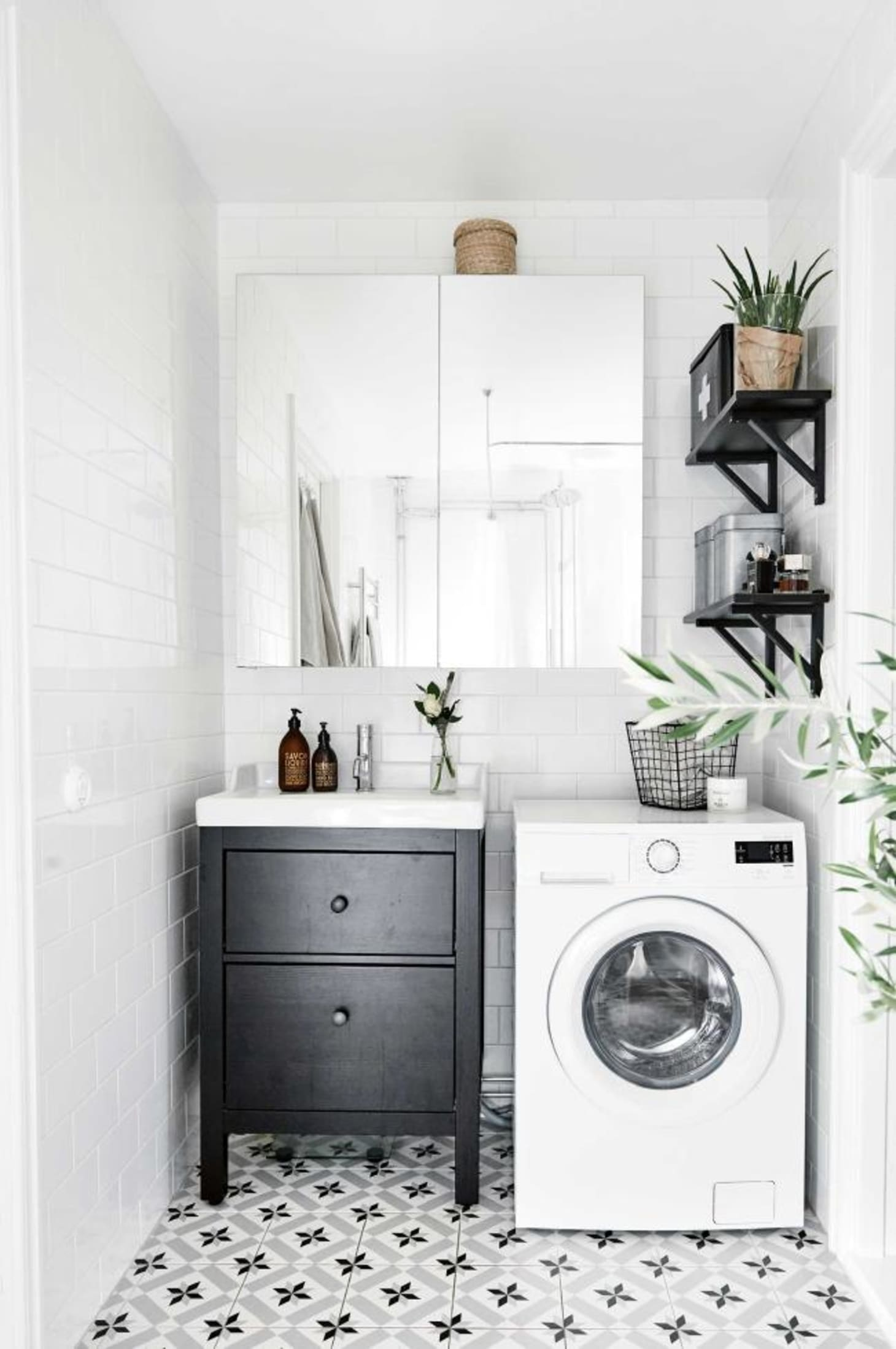 Small Laundry Room Remodeling Ideas | Apartment Therapy on Small Space Small Bathroom Ideas With Washing Machine id=65987