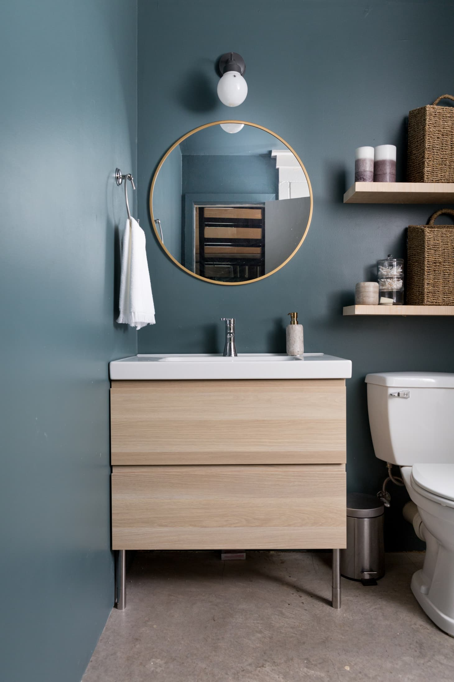 25 Small Bathroom Storage & Design Ideas - Storage ... on Small Apartment Bathroom  id=67403