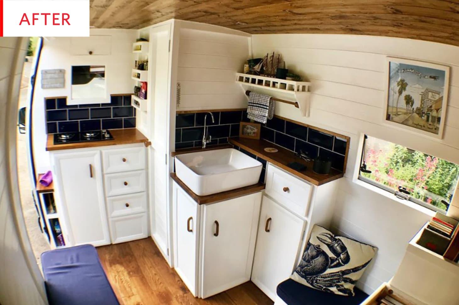 Sprinter Van Converted Tiny House Bathroom Photos ...