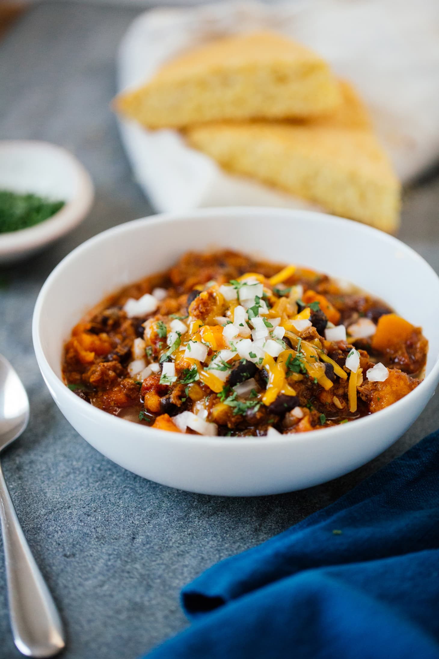 Recipe: Slow-Cooker Turkey Sweet Potato Chili | Kitchn