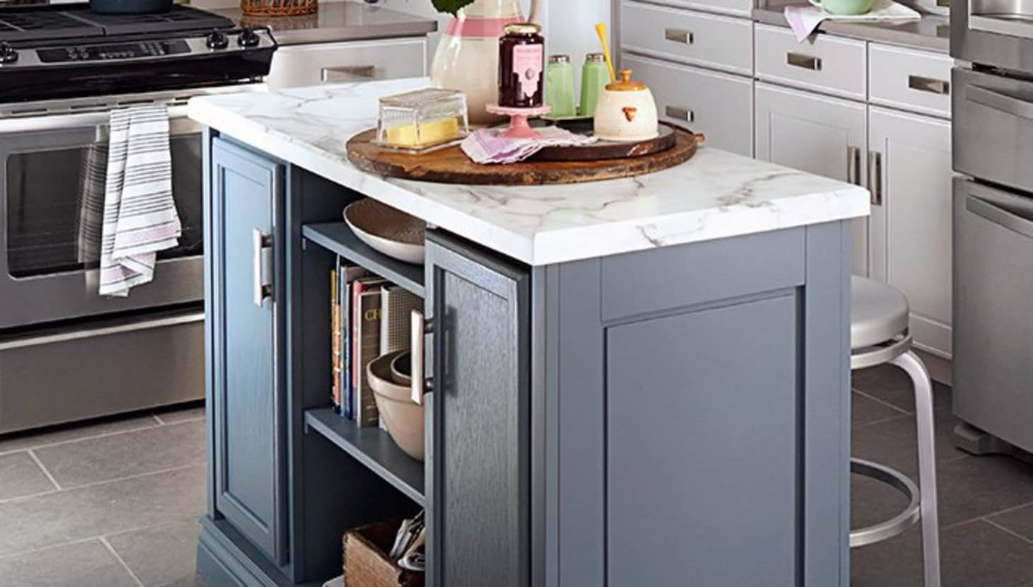 10 Clever Ways to Use Stock Kitchen Cabinets Throughout ...