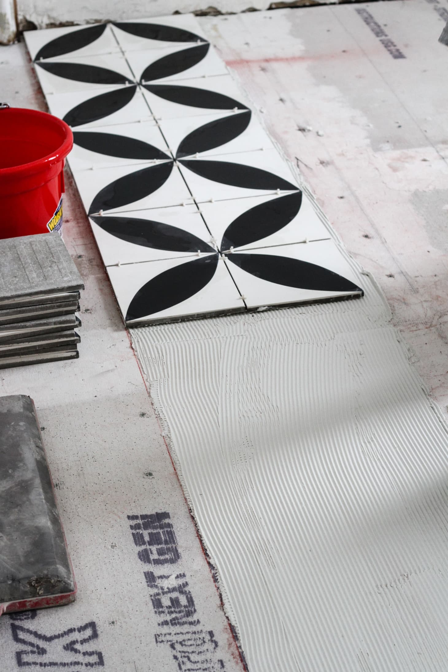 How To Tile A Bathroom Floor Apartment Therapy