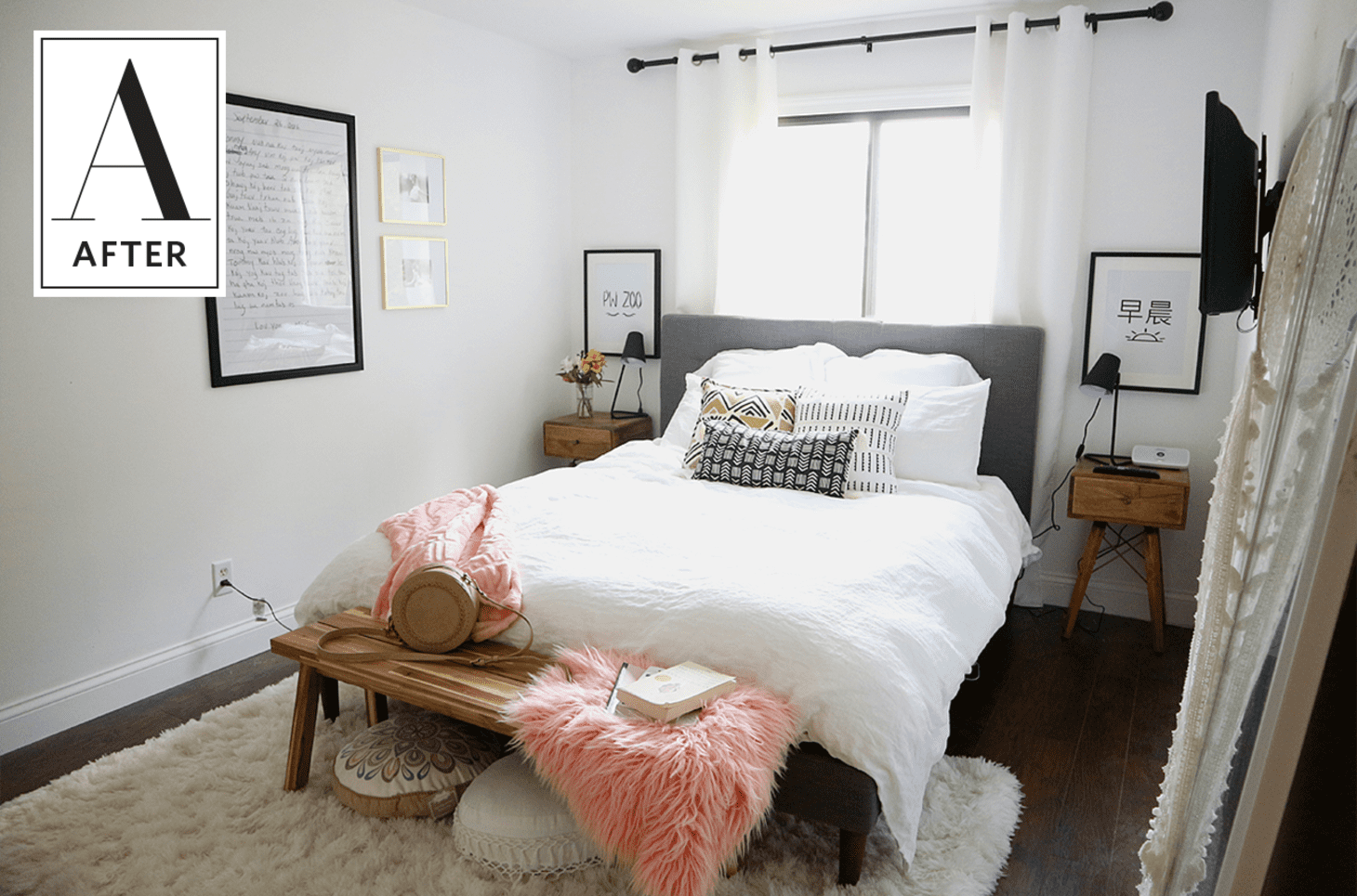 Before & After: A Cozy and Minimal Master Bedroom ...