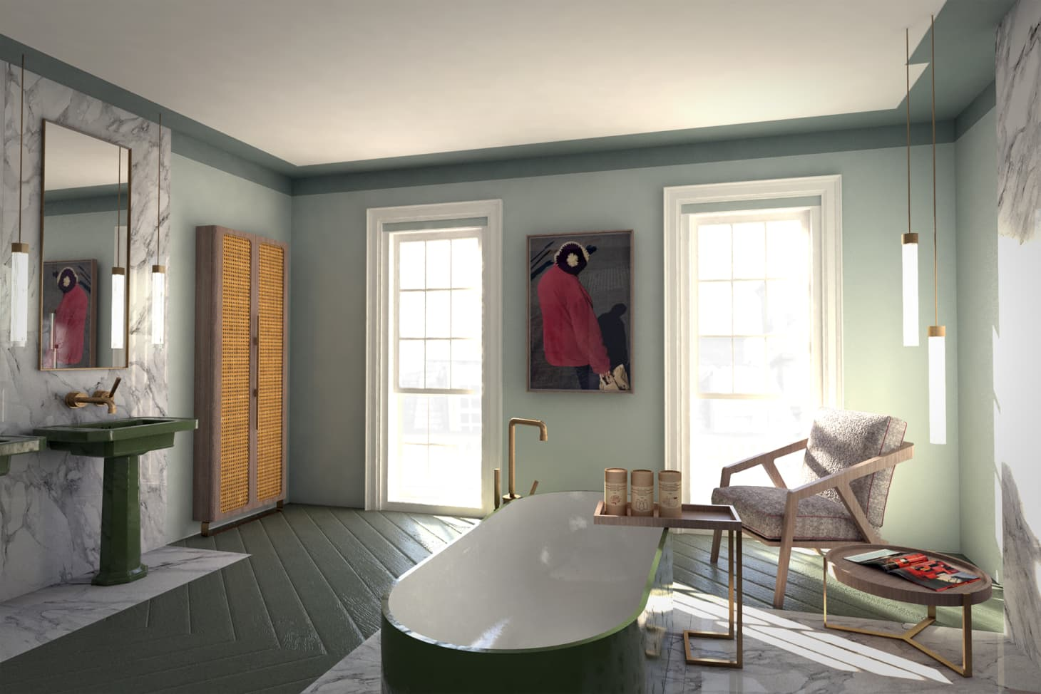 Avocado Green Bathroom Fixtures - Modern Renovation ...