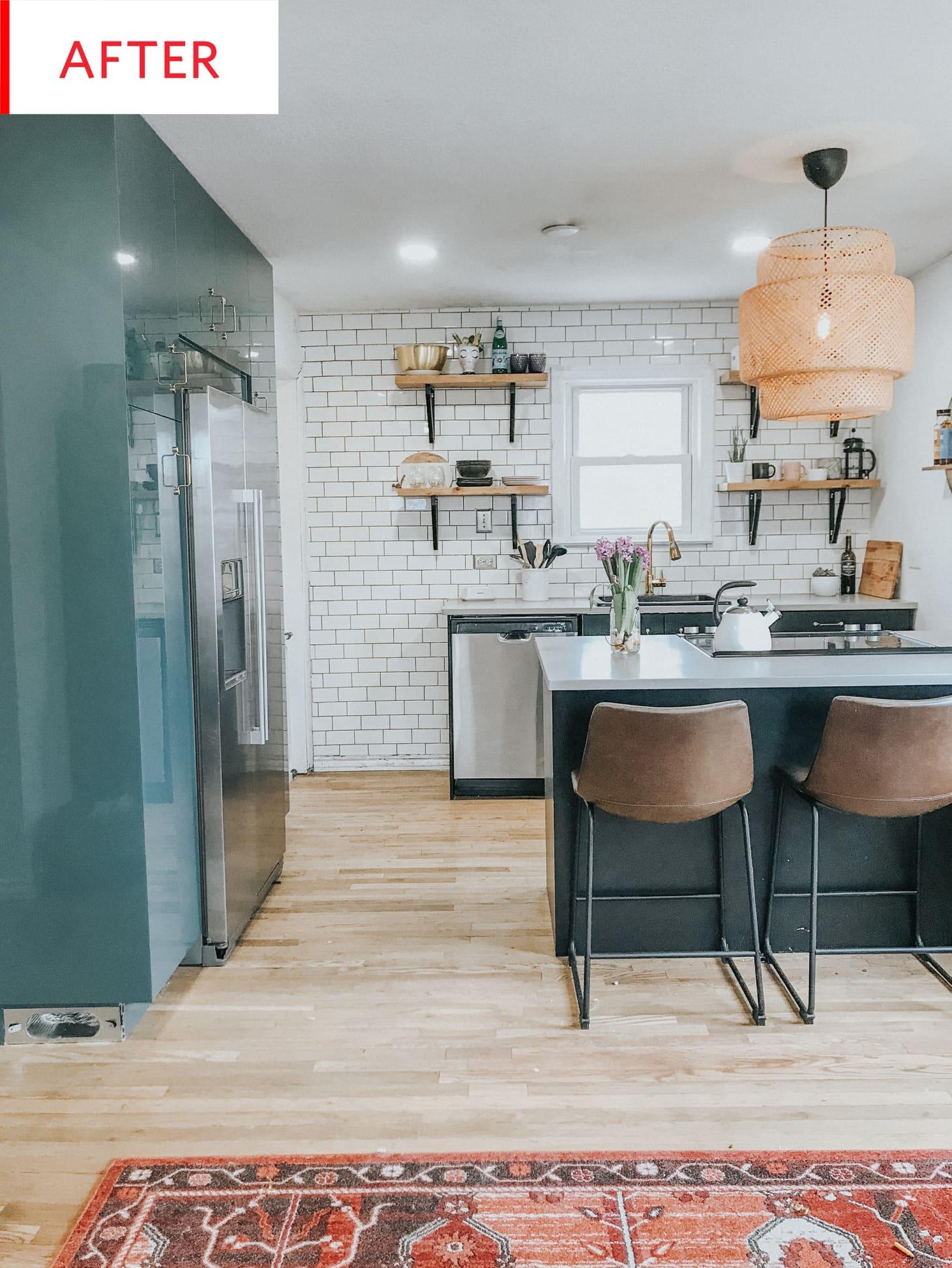 Ikea Kitchen Makeover - Green Cabinets | Kitchn