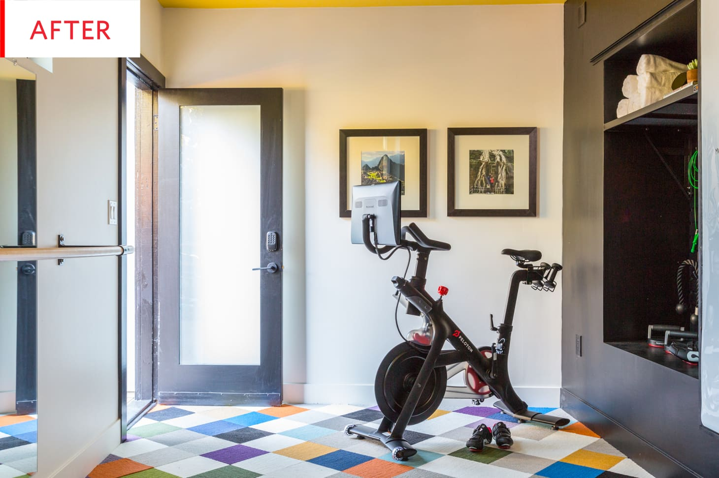 Unfinished basement turned home gym remodel photos apartment therapy