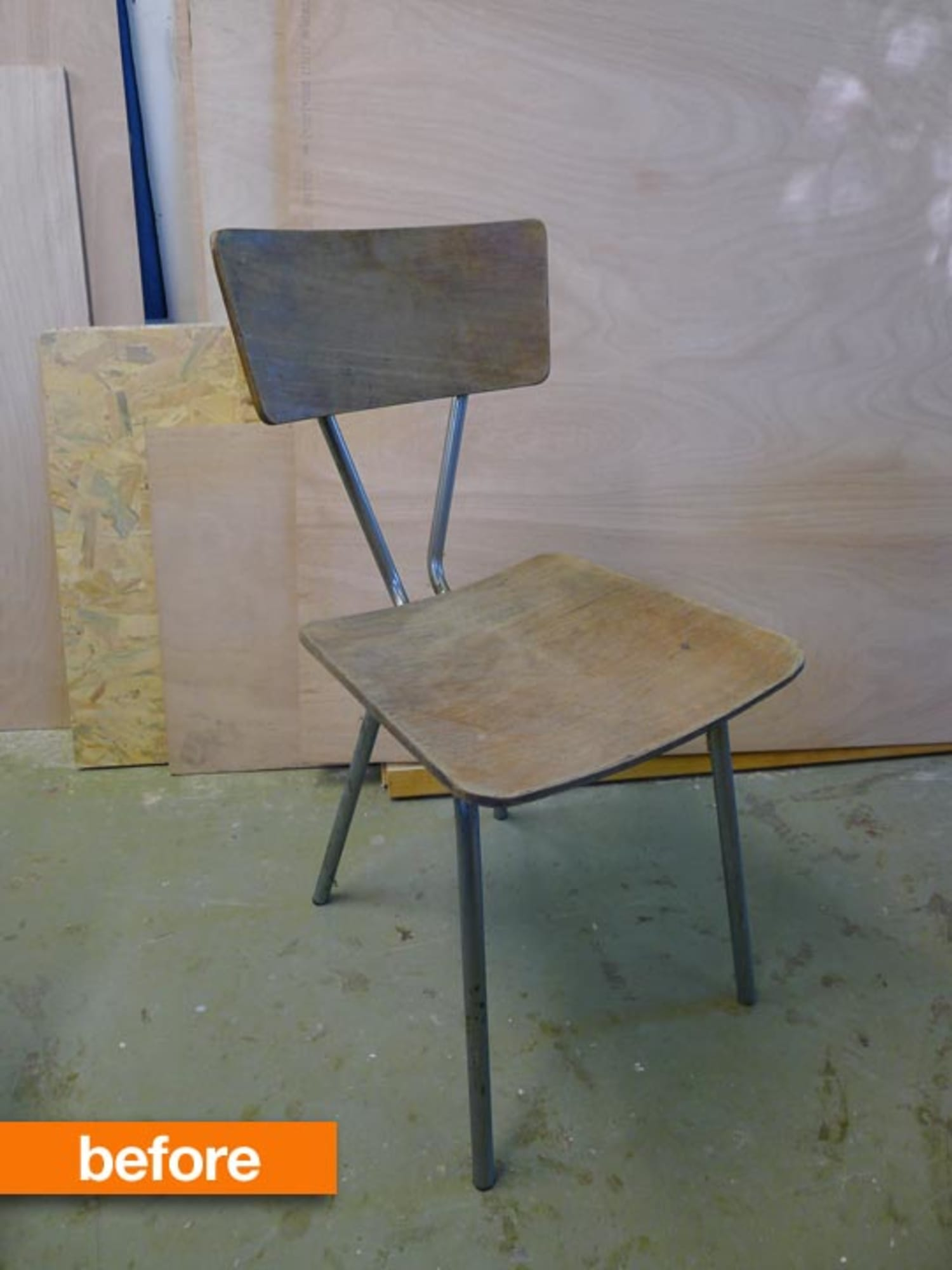 Before & After: Revamped 1970s Plywood Chair