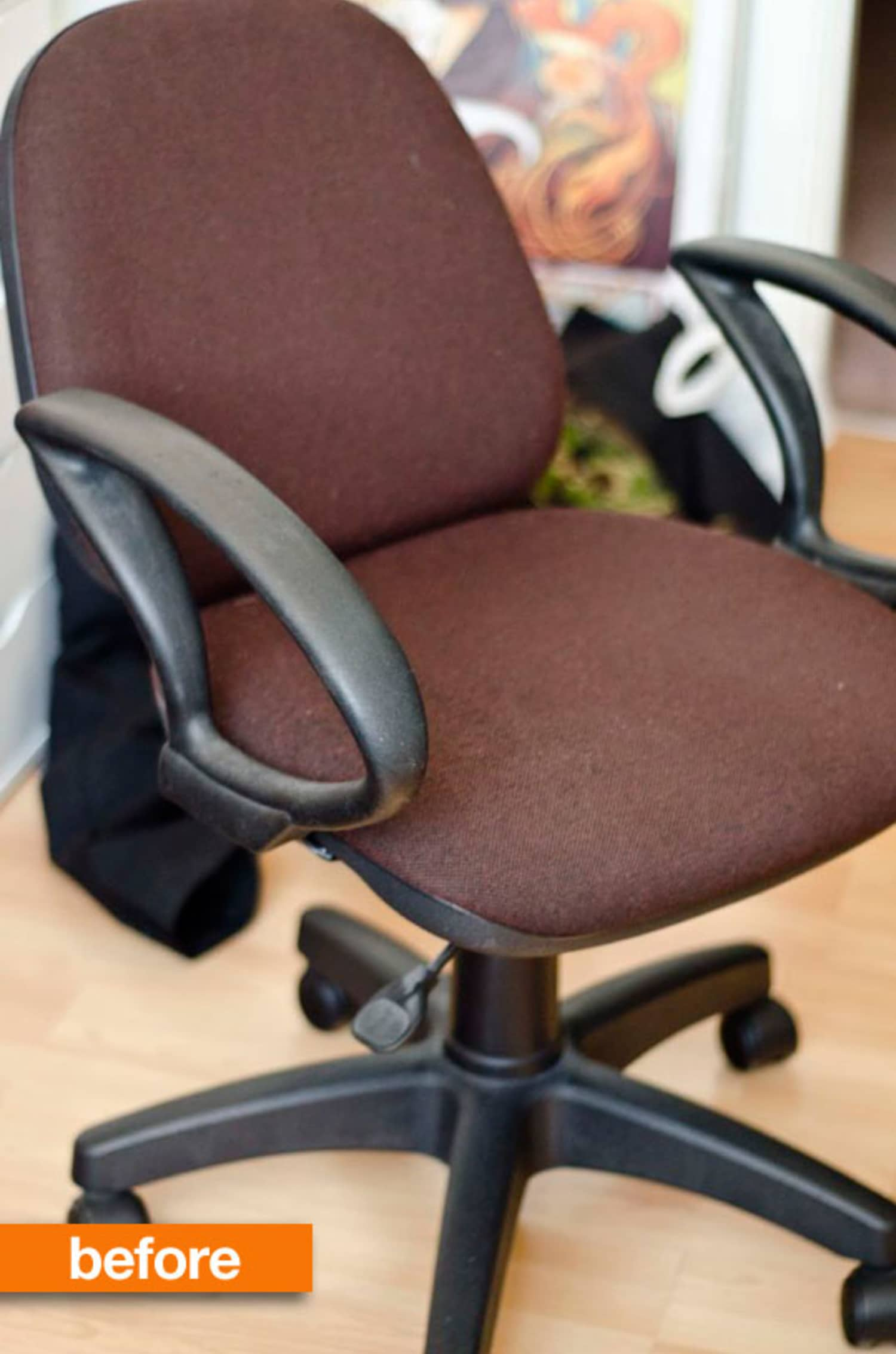 Before & After: The $5 New Upholstery Office Chair Makeover