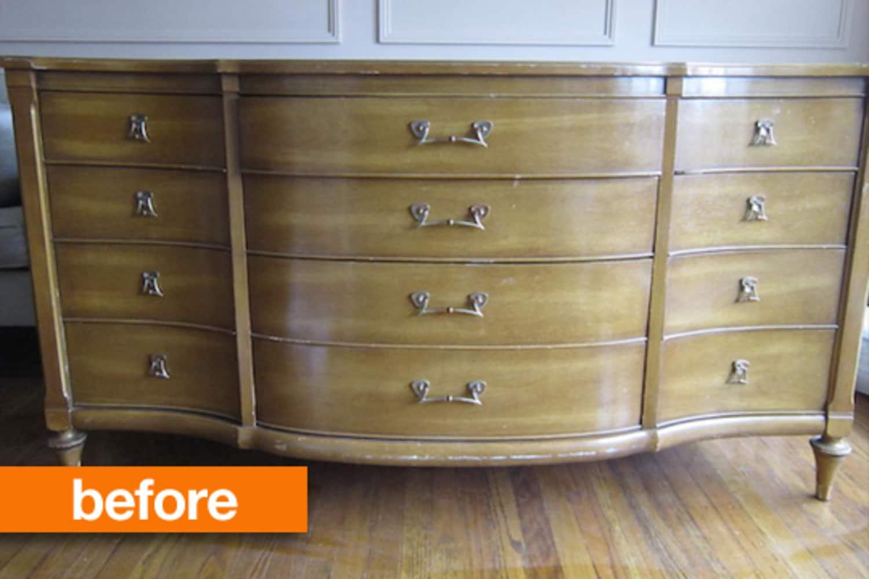 Before & After: Orange You Glad Rita Refreshed This Craigslist Dresser?