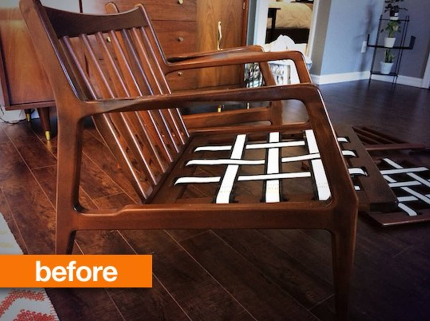 Before & After: Kaycee's Customized Kofod Larsen Chairs
