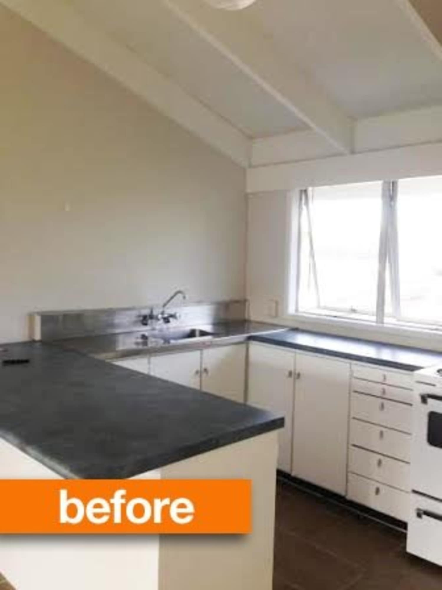 Before & After: Rental Kitchen Gets a Stylish DIY Upgrade For Under $50