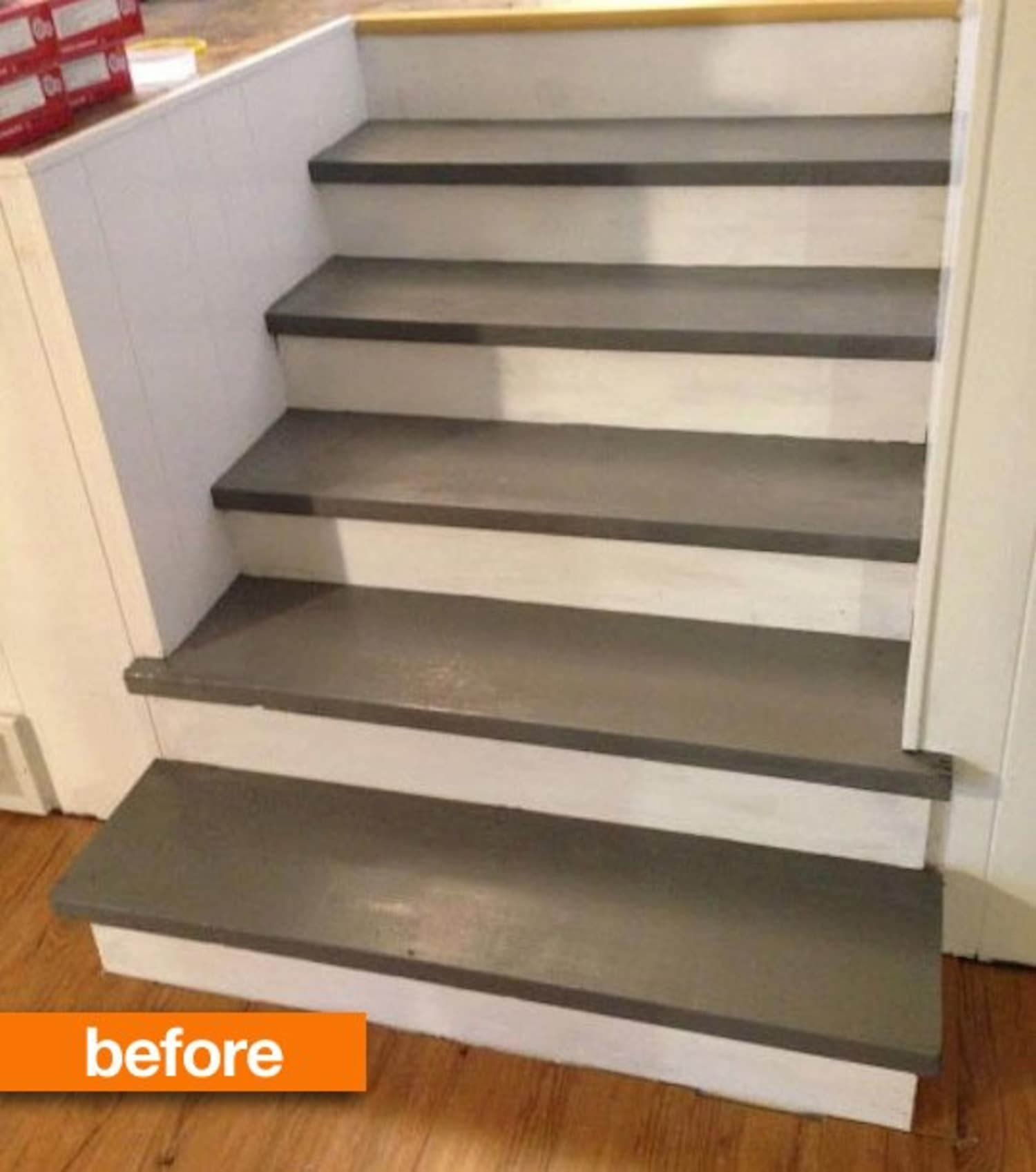 Before & After: Sarah's Stairs Go Faux (In The Best Way Possible)