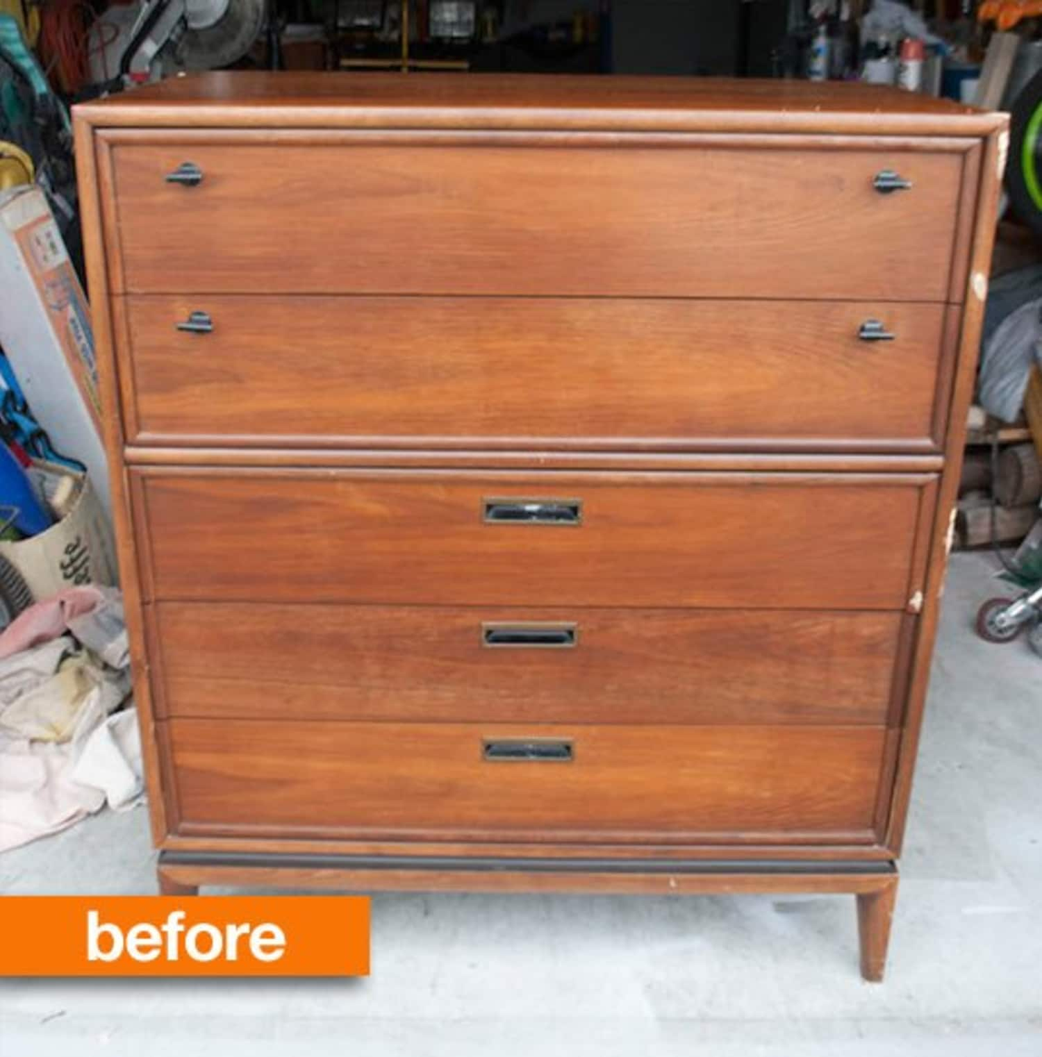 Before & After: A Vintage Dresser Gets Light and Bright