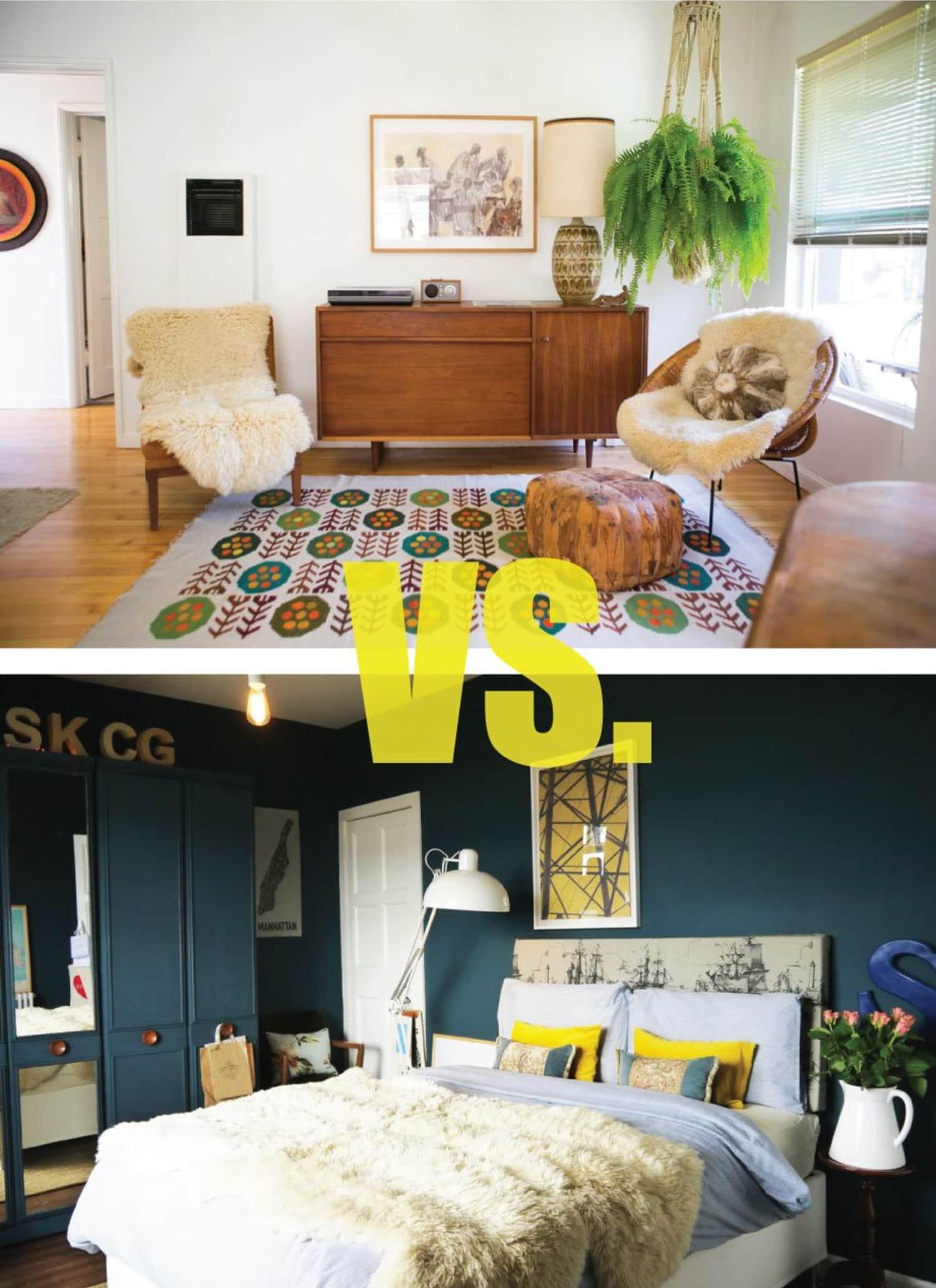 Design Duel: Light vs. Dark Bedrooms