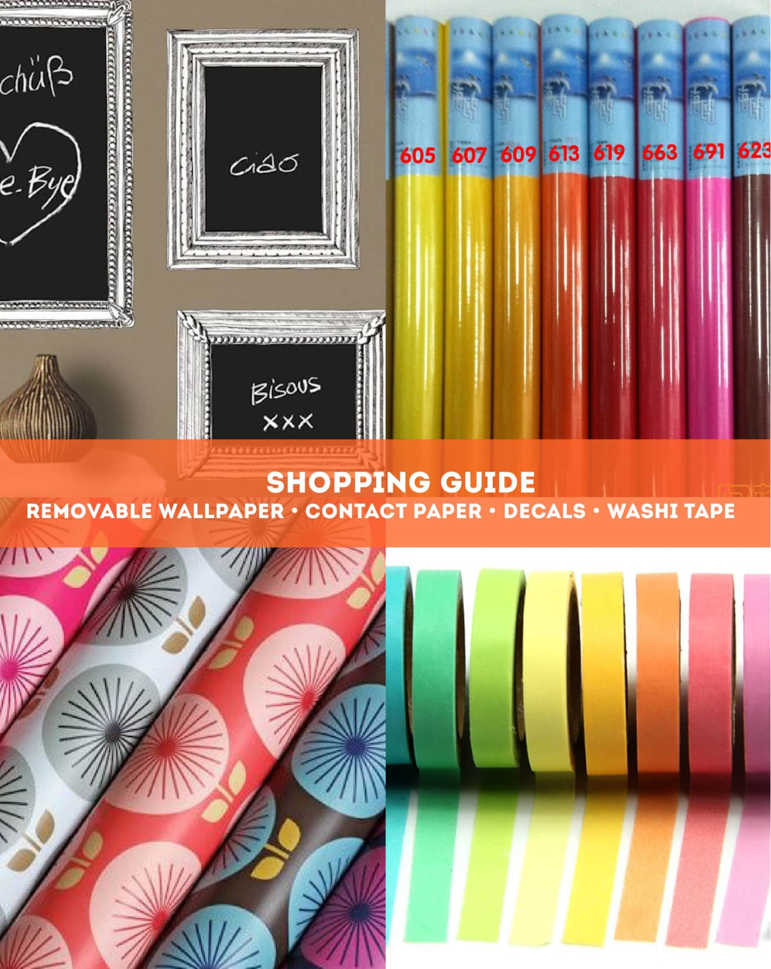 Shopping Resources: Decals, Removable Wallpaper, Washi Tape & Contact Paper