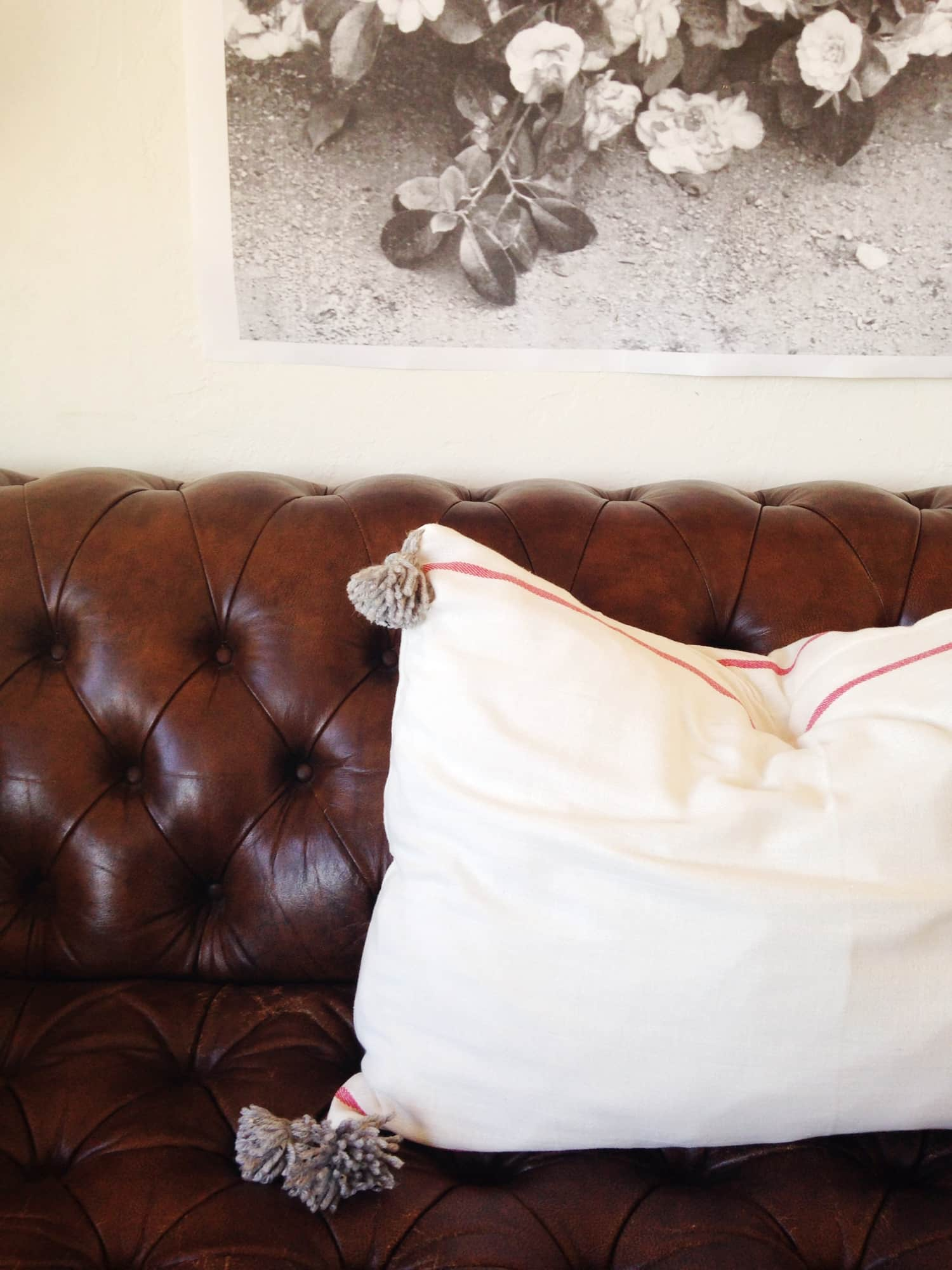 IKEA Hack: How to Make a Moroccan Style Pillow from $2 Dishtowels