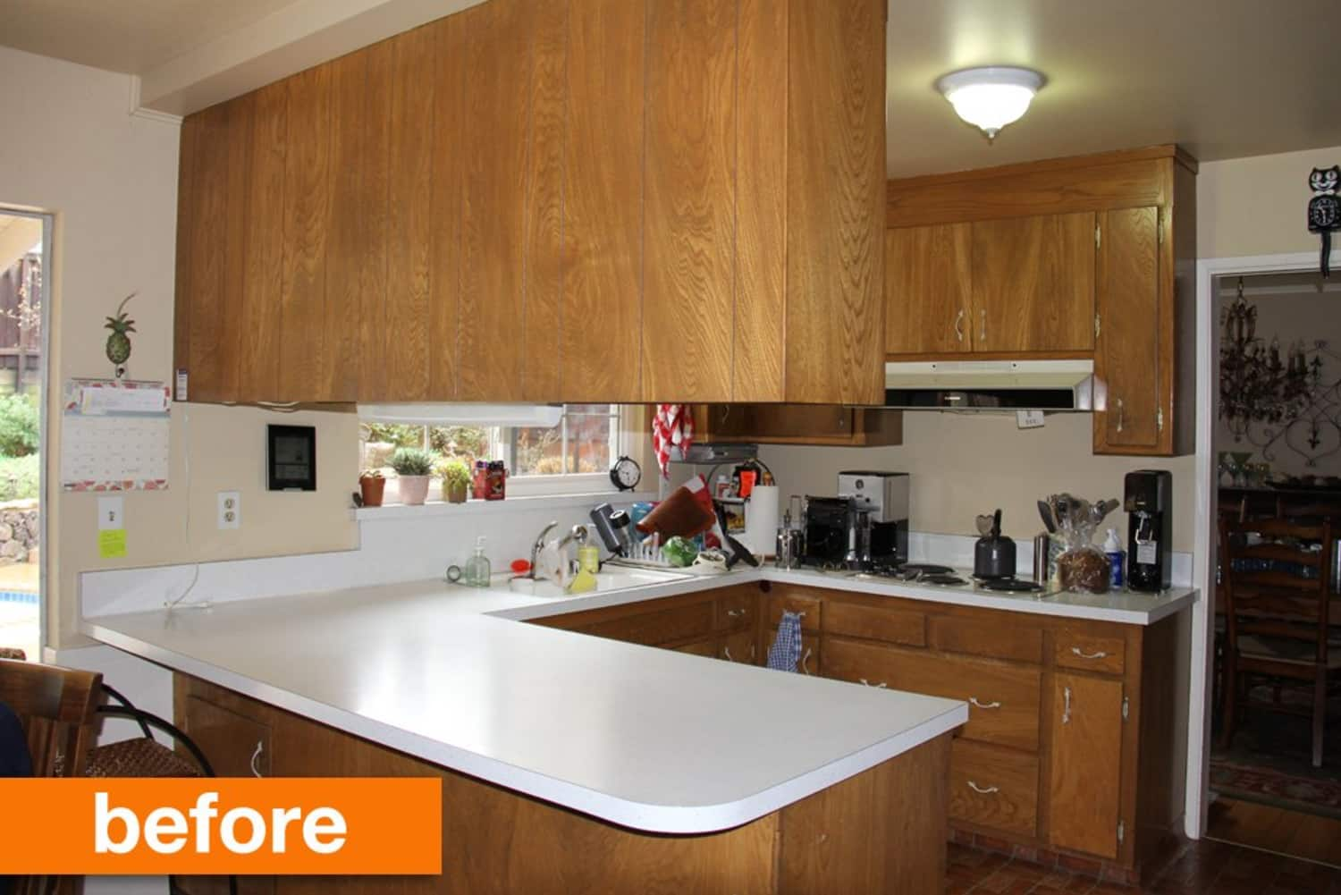 Before & After: A Compact, Updated Kitchen for a Family of 5