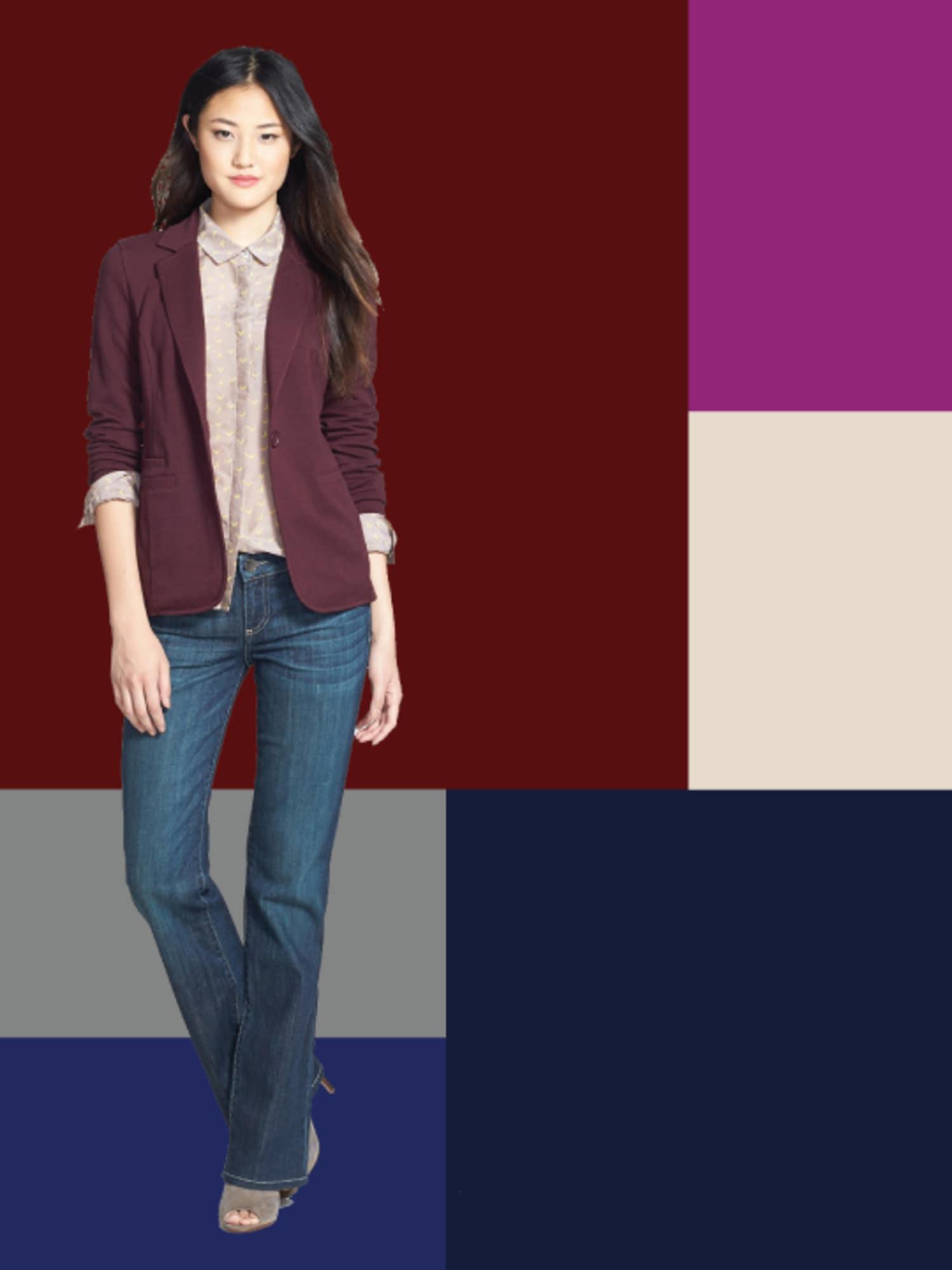 Fall Fashion Color Mix: Burgundy & Blue