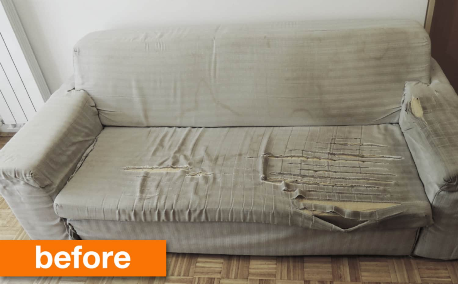 Before & After: An Unbelievable (& Adorable) Sofa Save
