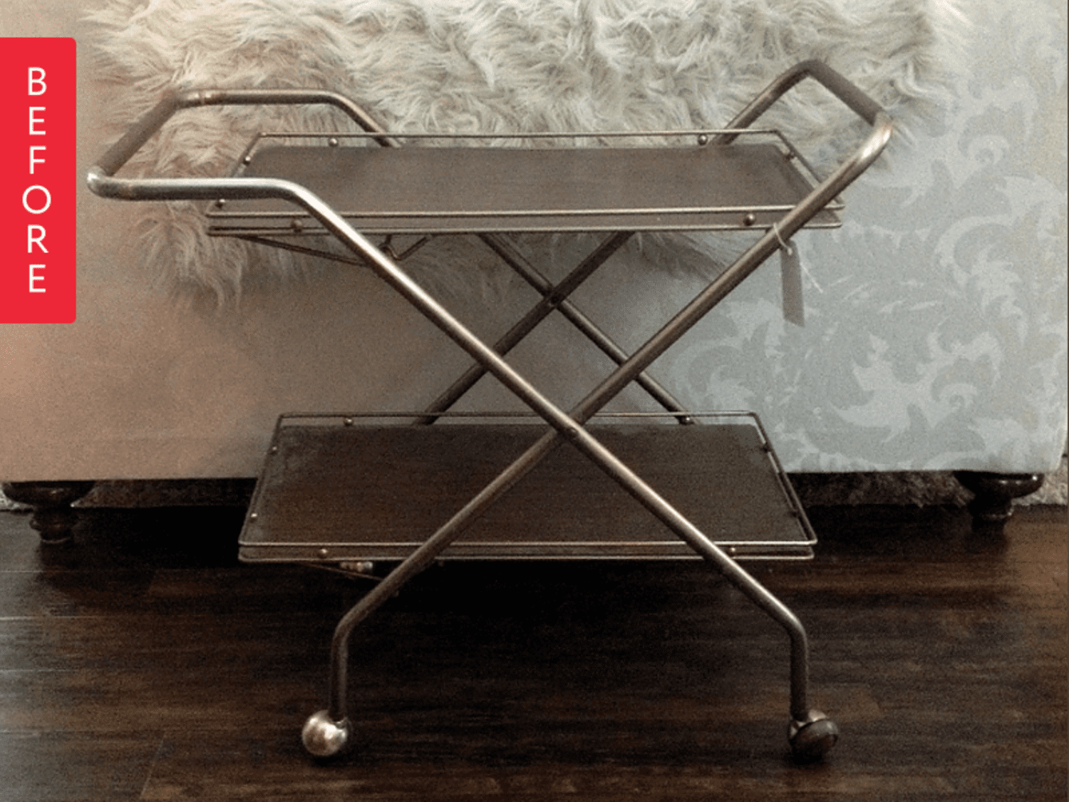 Before & After: A Bar Cart Worth Toasting
