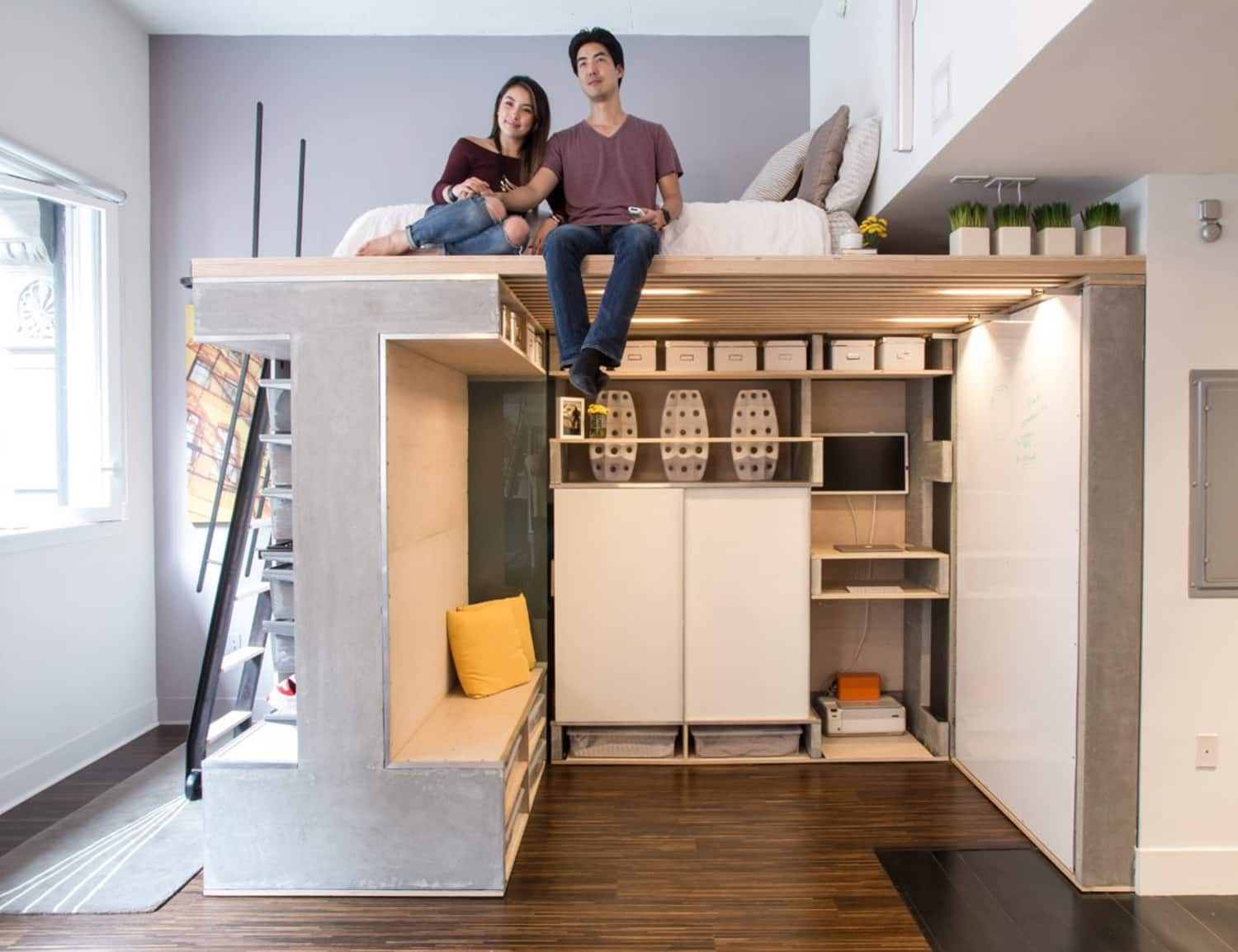 Super Clever Small Space Solution: The Transforming Living Cube