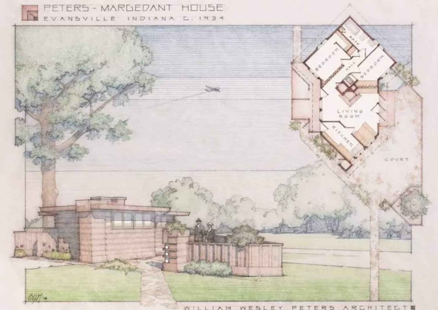 An 85-Year-Old 'Tiny House' in the Style of Frank Lloyd Wright