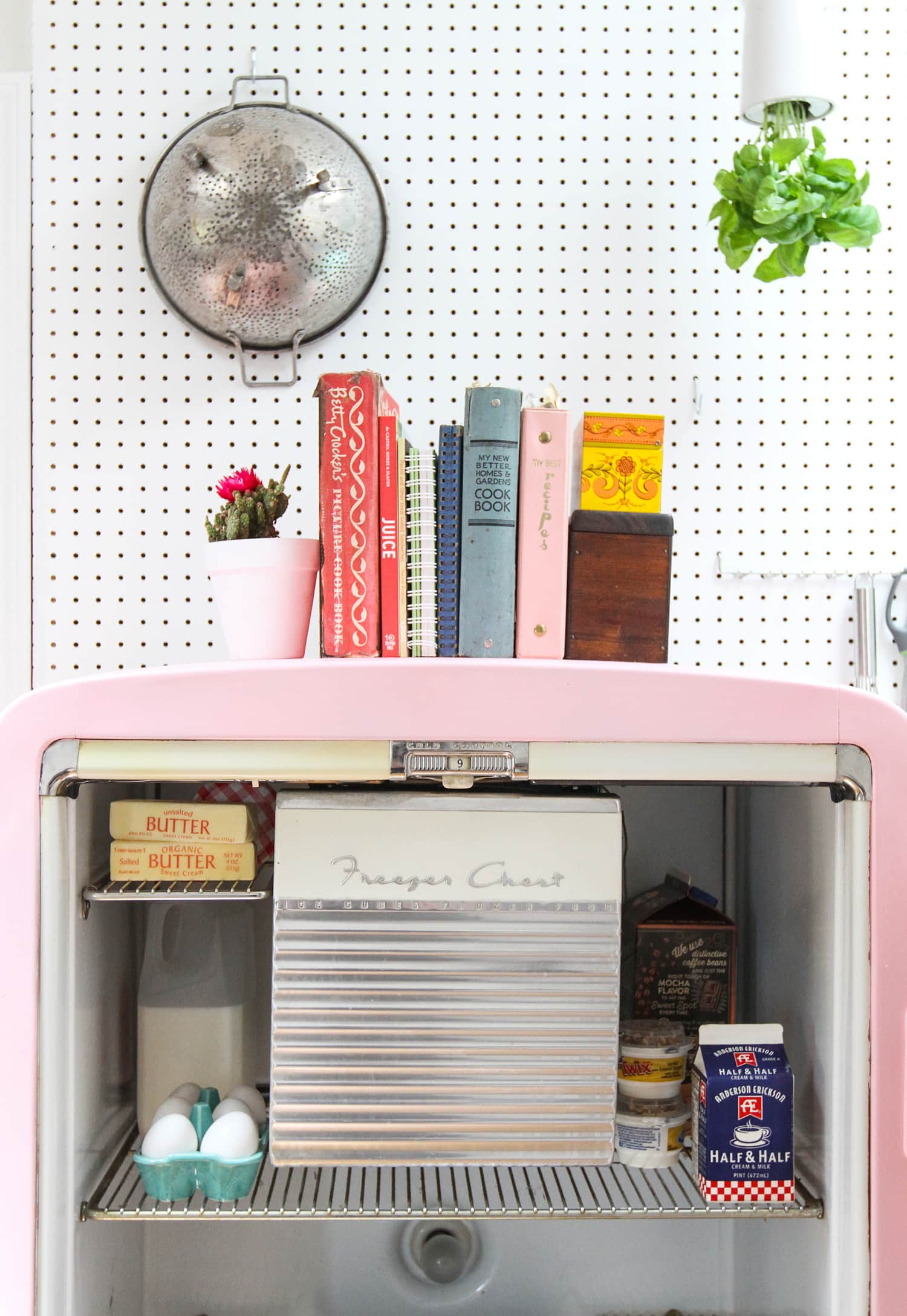 Wishing for a Colorful Smeg Fridge? Here's How To Paint a Vintage Refrigerator Instead