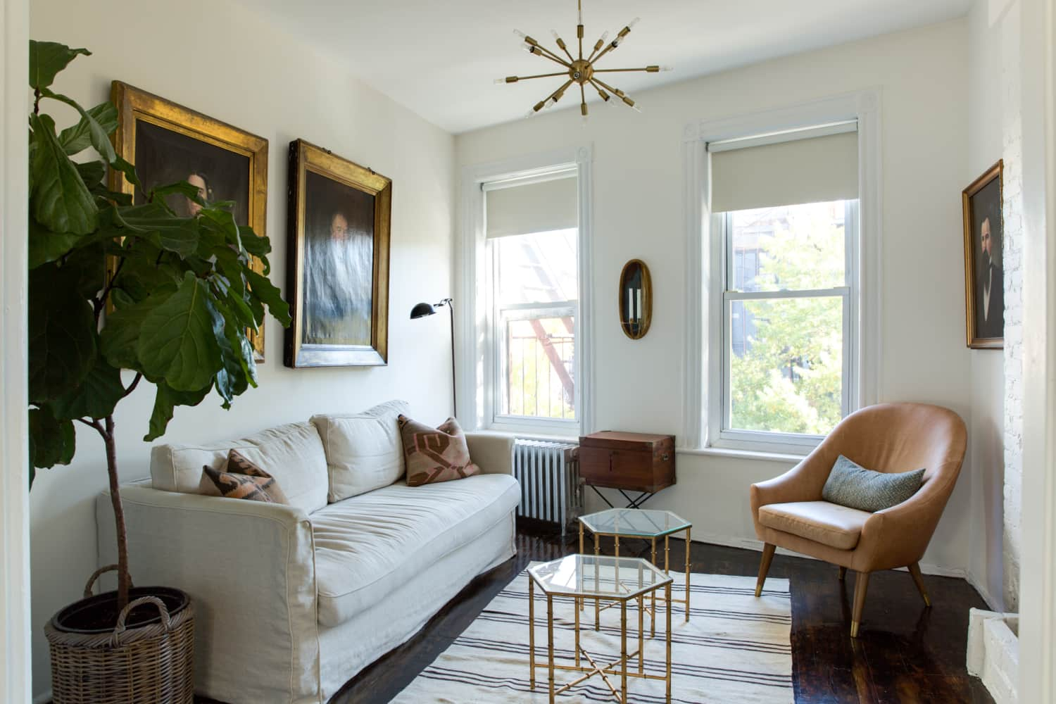 A Compact & Chic Classic Railroad Apartment in NYC