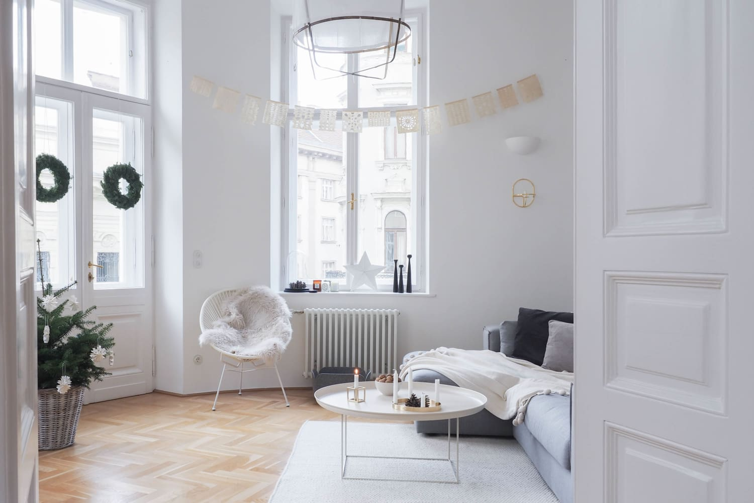 A Scandinavian-Inspired Apartment in a Vintage Vienna Building