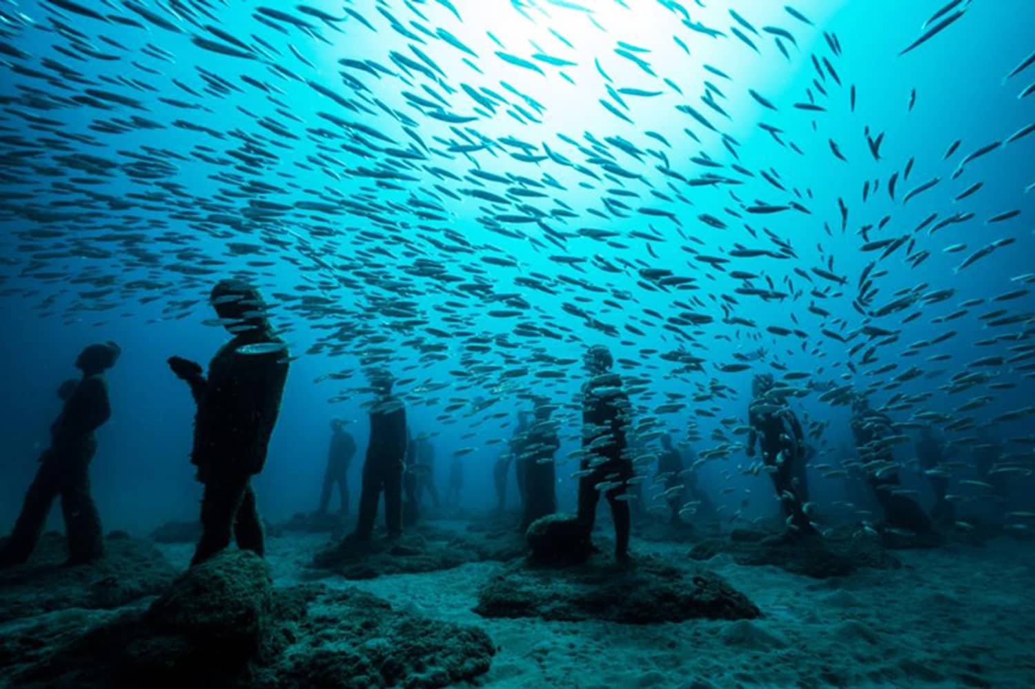 There's an Underwater Museum in Spain with 300 Sculptures