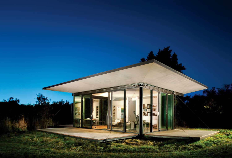 Watch a Tiny Modern Cabin Neatly Fold Away