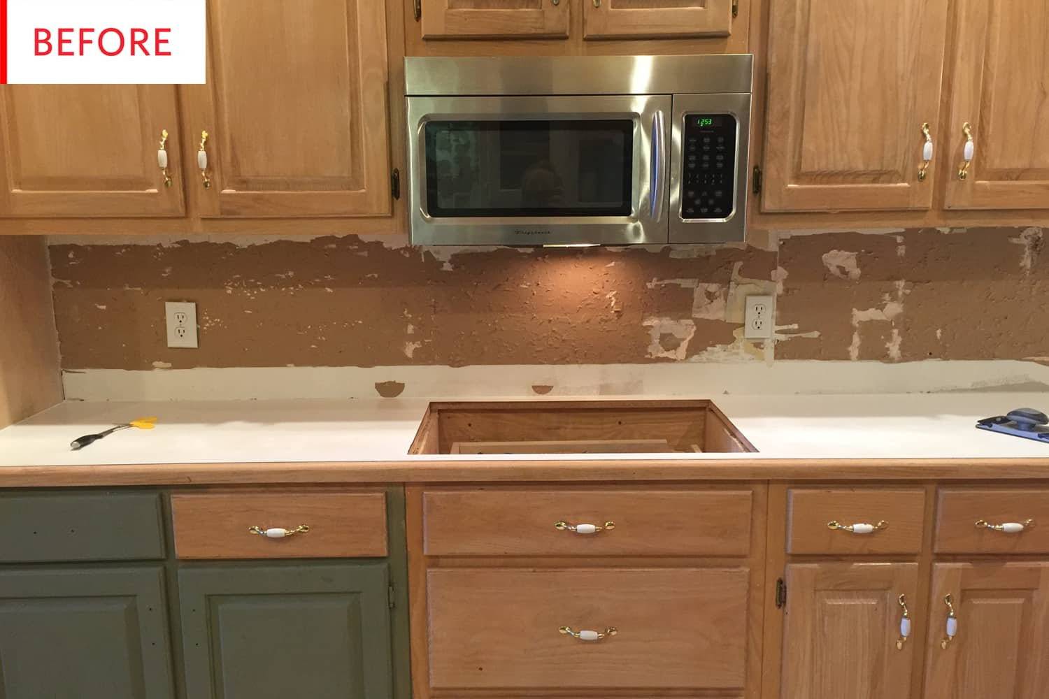 "Before & After: The ""I Can't Believe It's Not Real Marble"" Makeover"