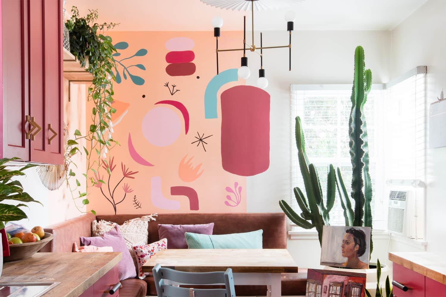 A Maximalist on a Minimal Budget Fills Her Home with Murals
