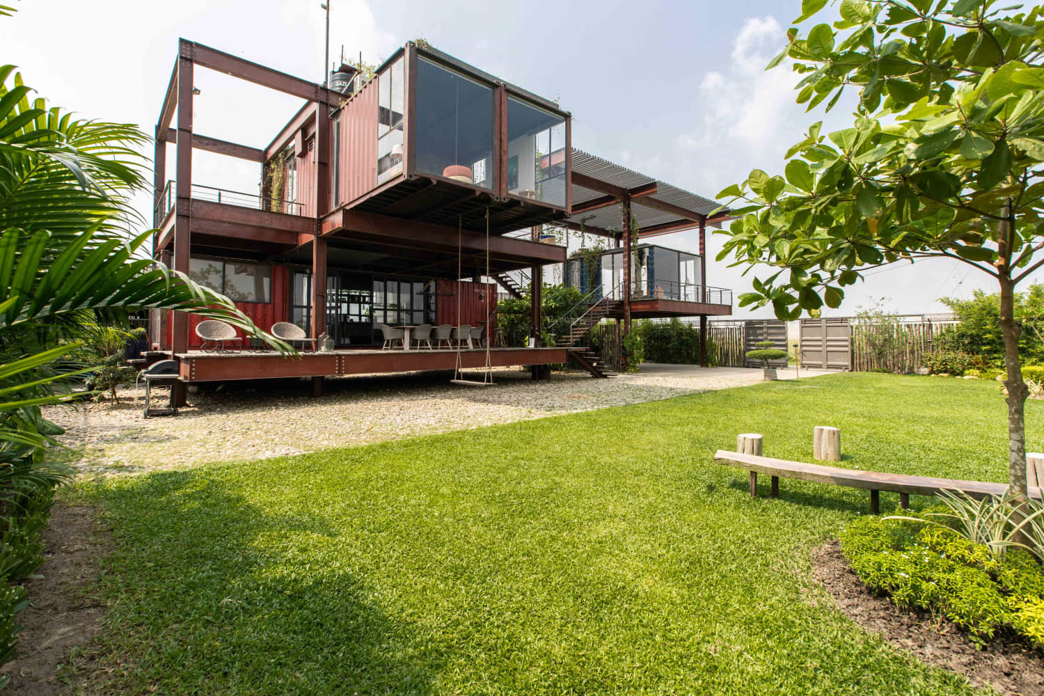 This Stacked Shipping Container House Is Stunning