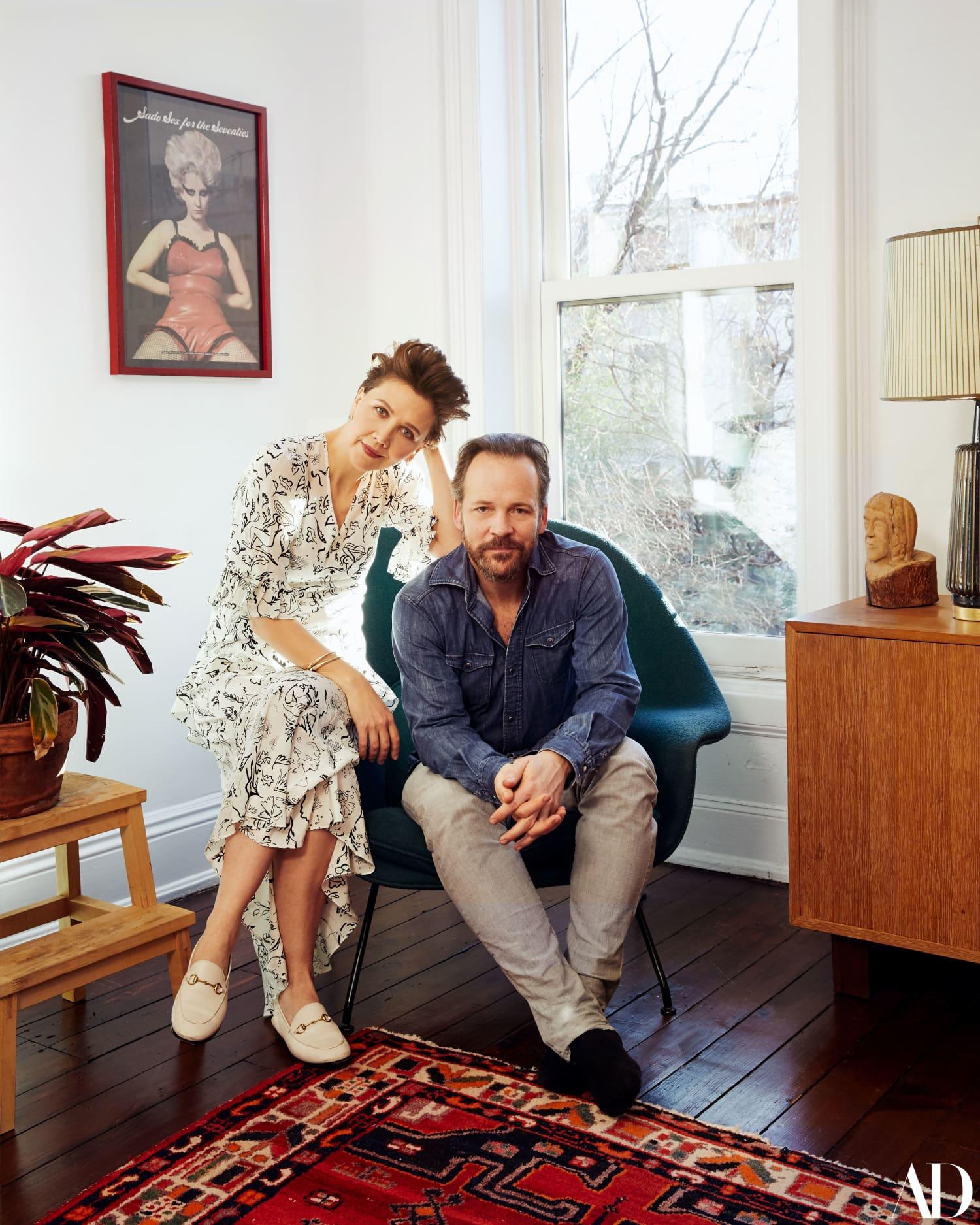 Peek Inside Maggie Gyllenhaal and Peter Sarsgaard's Teak-Covered Brooklyn Brownstone