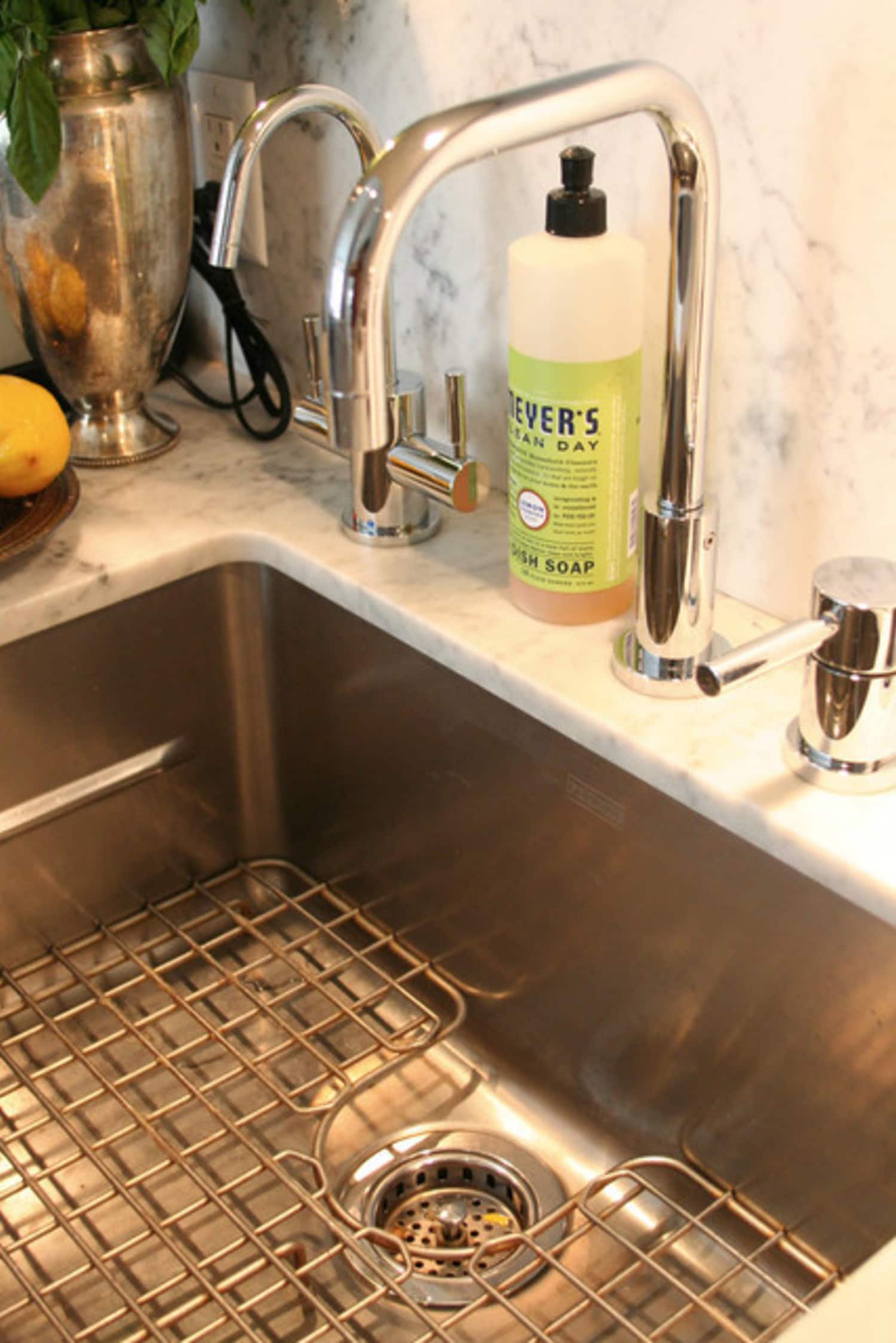6 Things You Need to Know About Undermount Kitchen Sinks | Kitchn on under the sink, under a sink, faucet leaking under sink, chemicals under sink, fix leaking pipe under sink, removing drain pipe under sink, correct plumbing under sink, plumbing pipes under sink, replace plumbing under sink, pex under sink, plumbing underneath bathroom sink, 4 stage reverse osmosis under sink, replacing plumbing under bathroom sink,