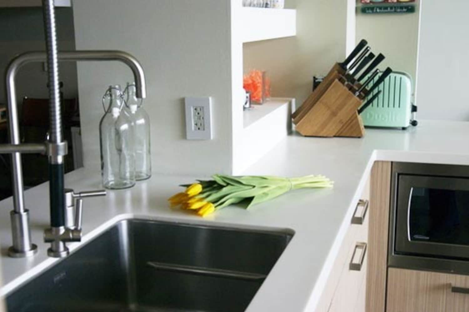 All About Synthetic Solid Surface Countertops Kitchn