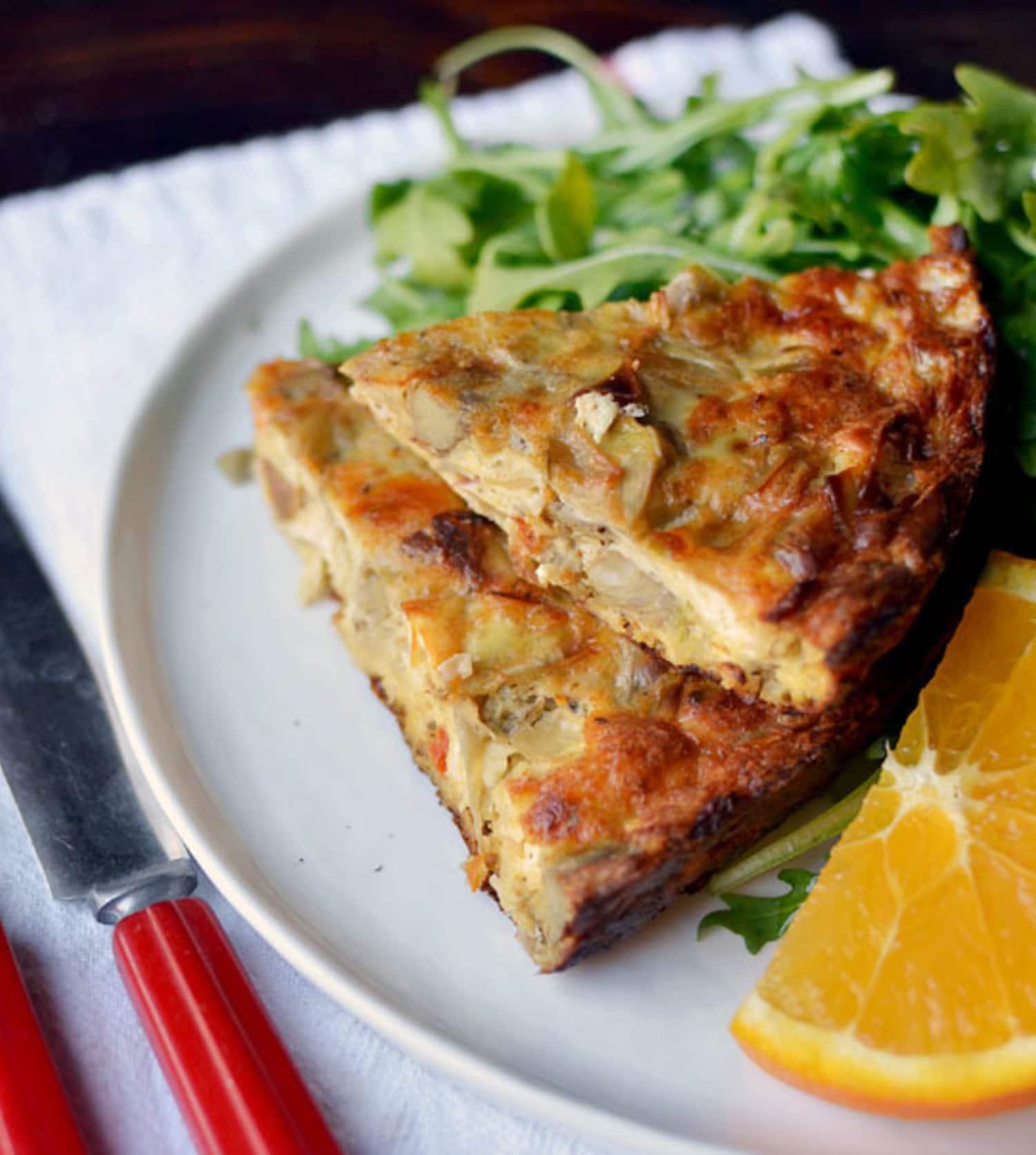 Make-Ahead Recipe: Sausage, Artichoke & Goat Cheese Egg Bake