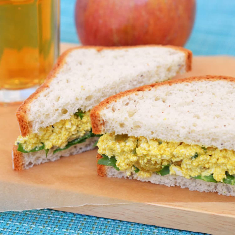 Vegan Lunch Recipe: Curried Tofu Salad