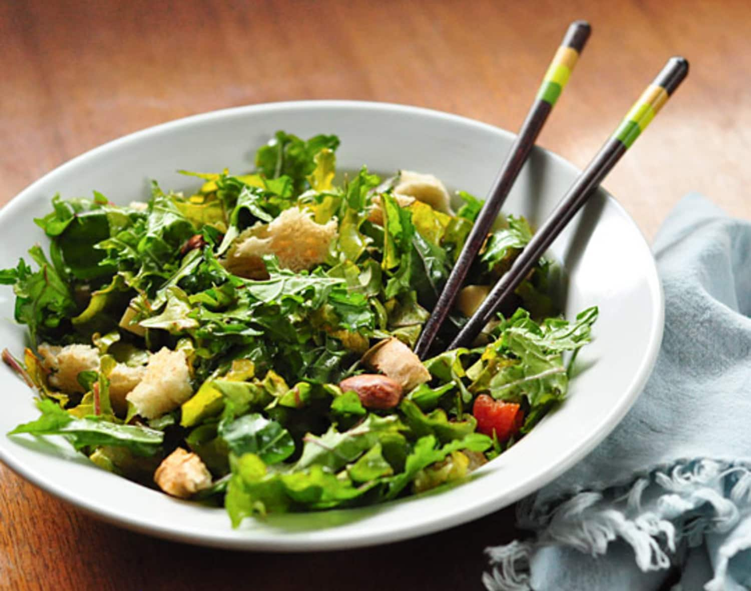 The Best Way to Eat a Salad? With a Pair of Chopsticks