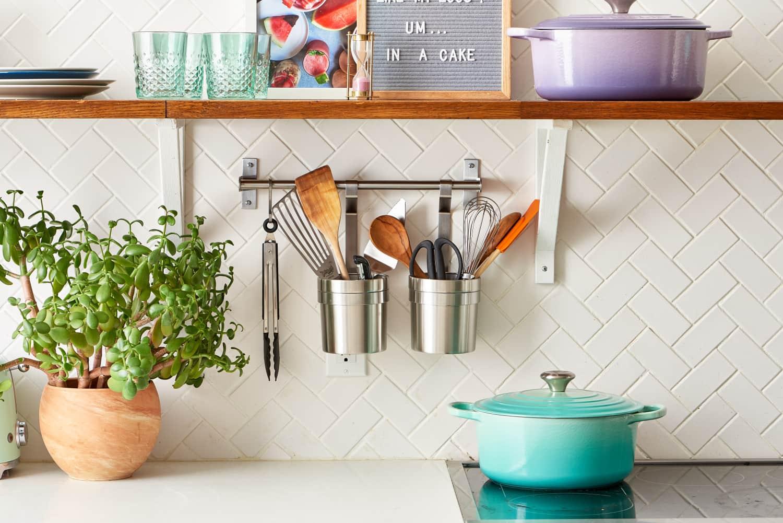 incredible colorful kitchen backsplash tiles | No More White! 10 Colorful Subway Tile Backsplashes | Kitchn