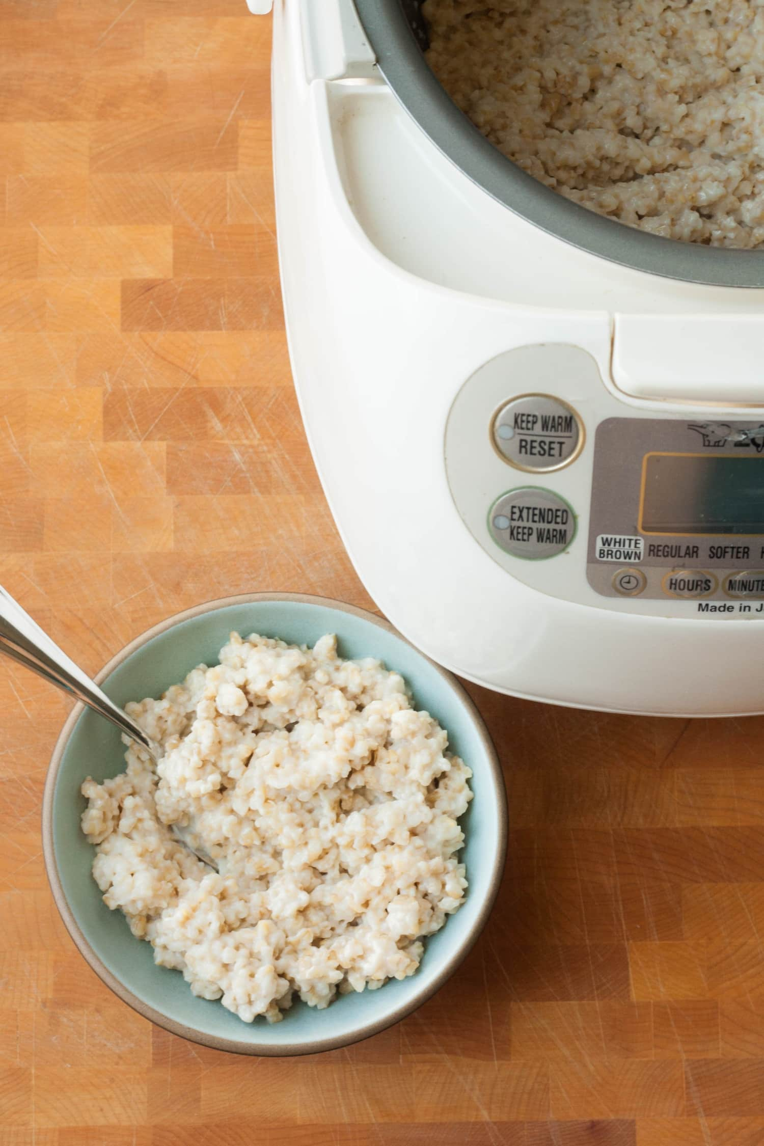 Why Oatmeal Made in a Rice Cooker Is Awesome | Kitchn