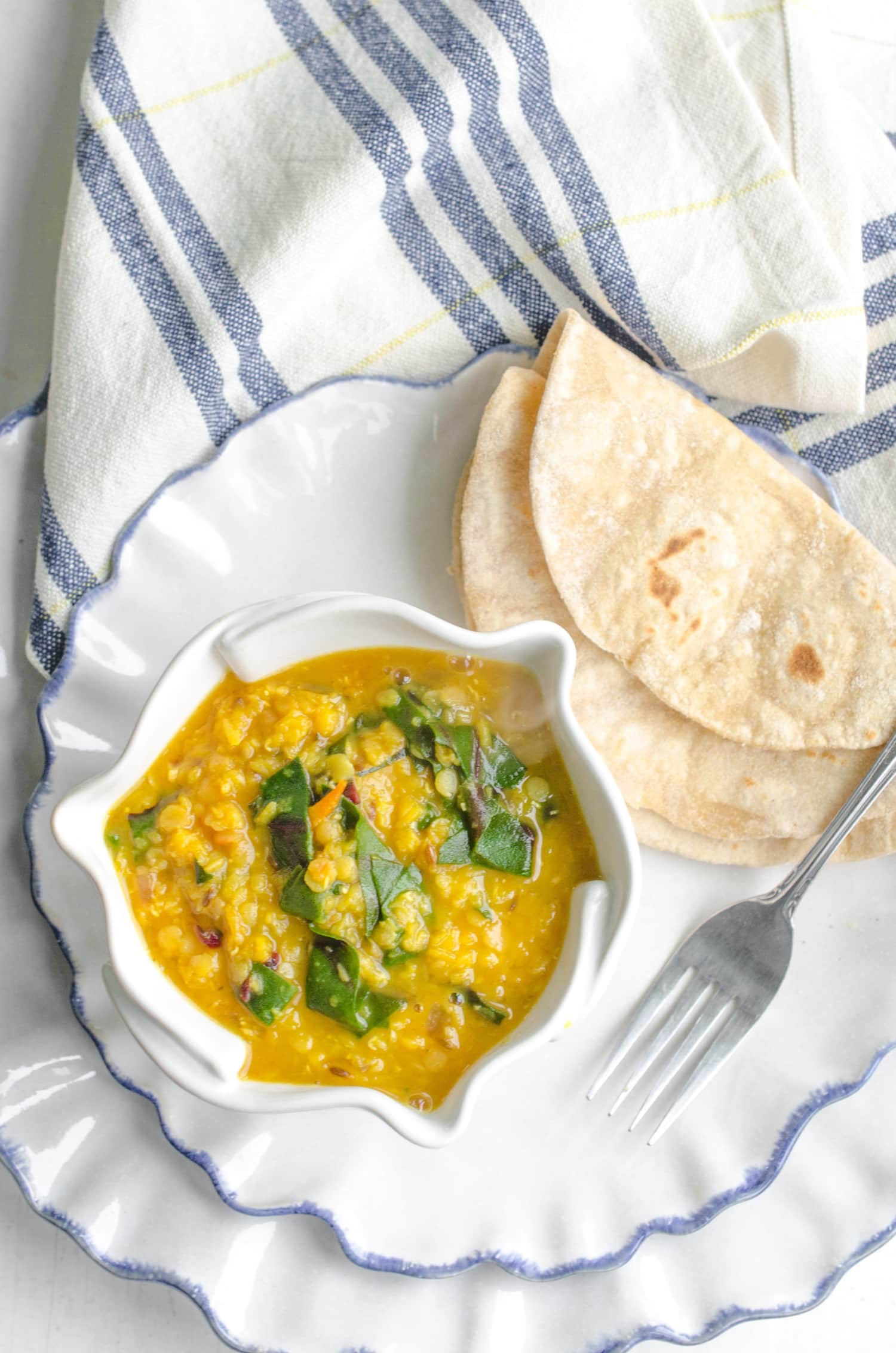 Recipe: Indian Lentil Dal with Hearty Greens | Kitchn