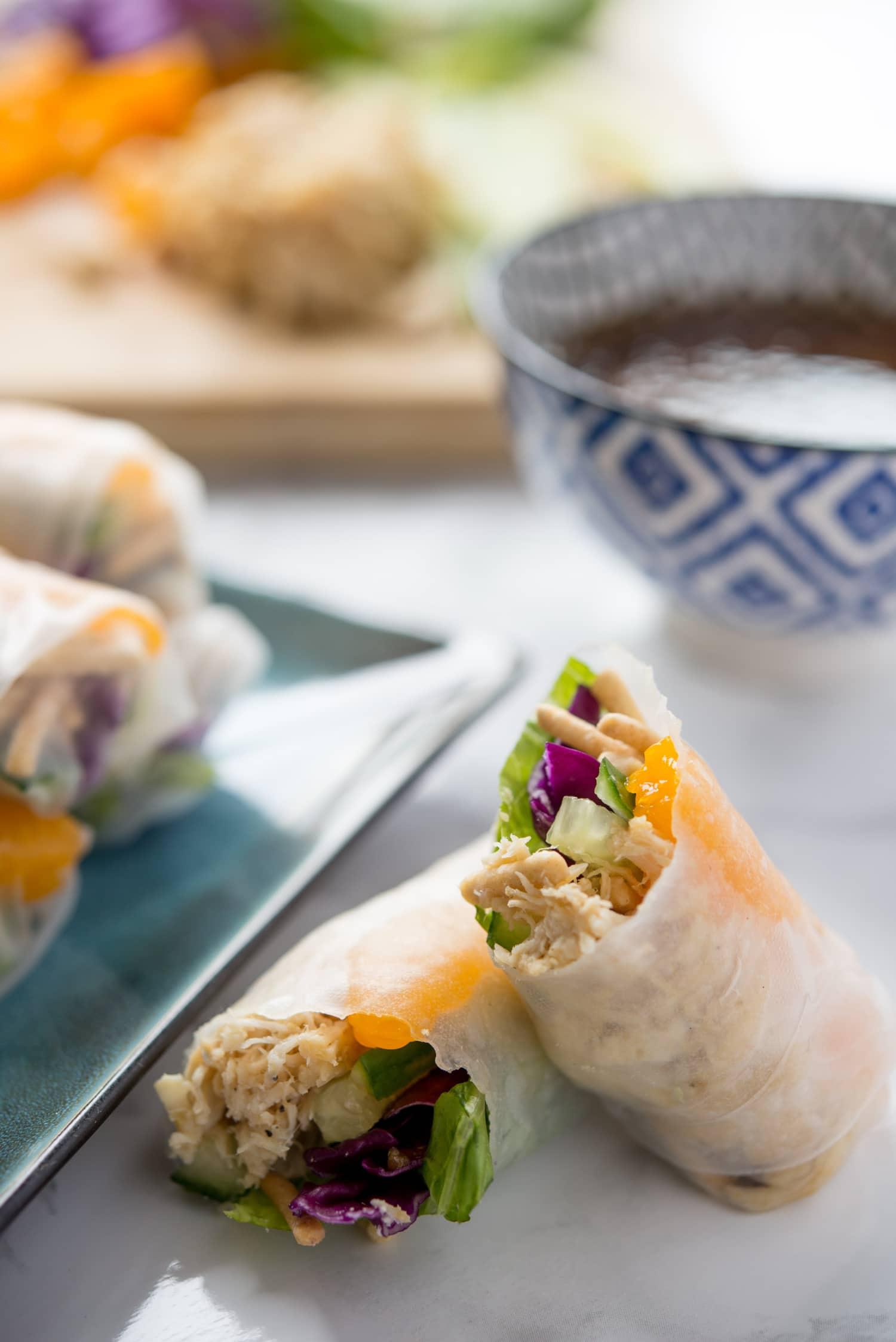 Recipe Chinese Chicken Salad Spring Rolls Kitchn