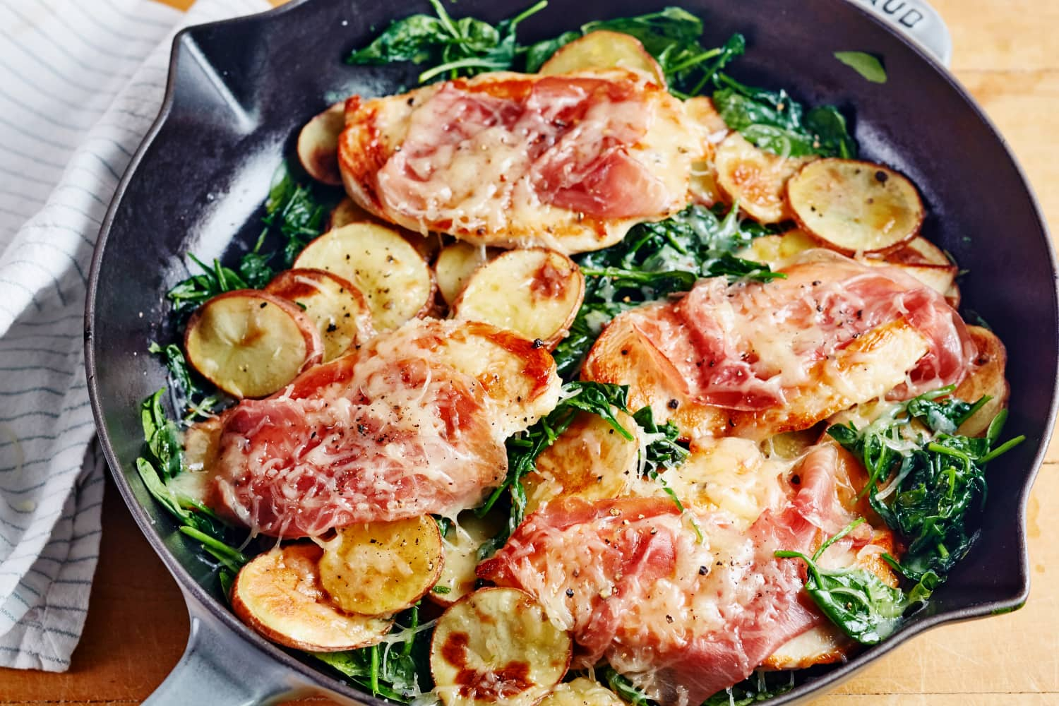 Recipe: Chicken Saltimbocca with Spinach and Potatoes